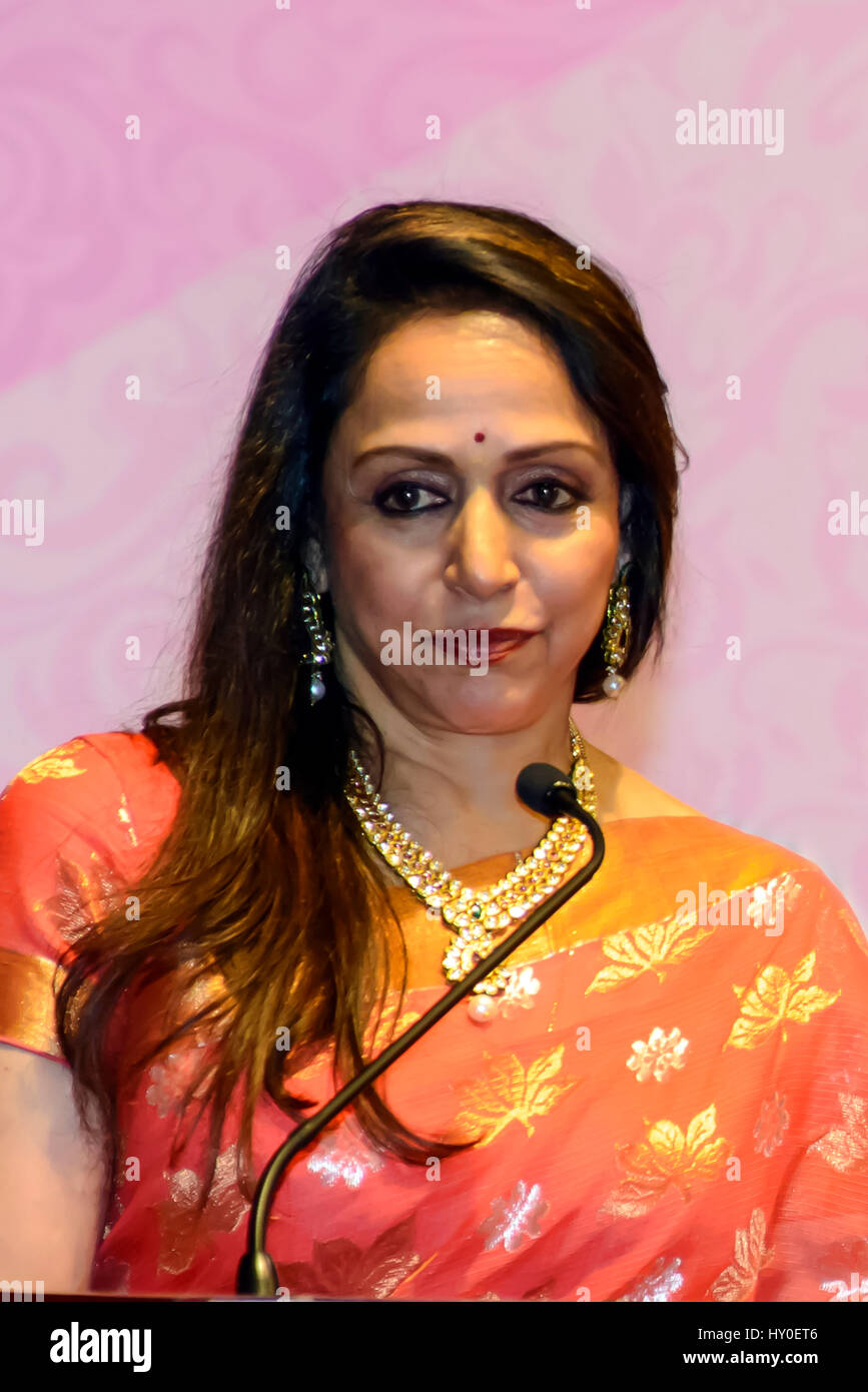 indian bollywood actress, hema malini, india, asia stock photo