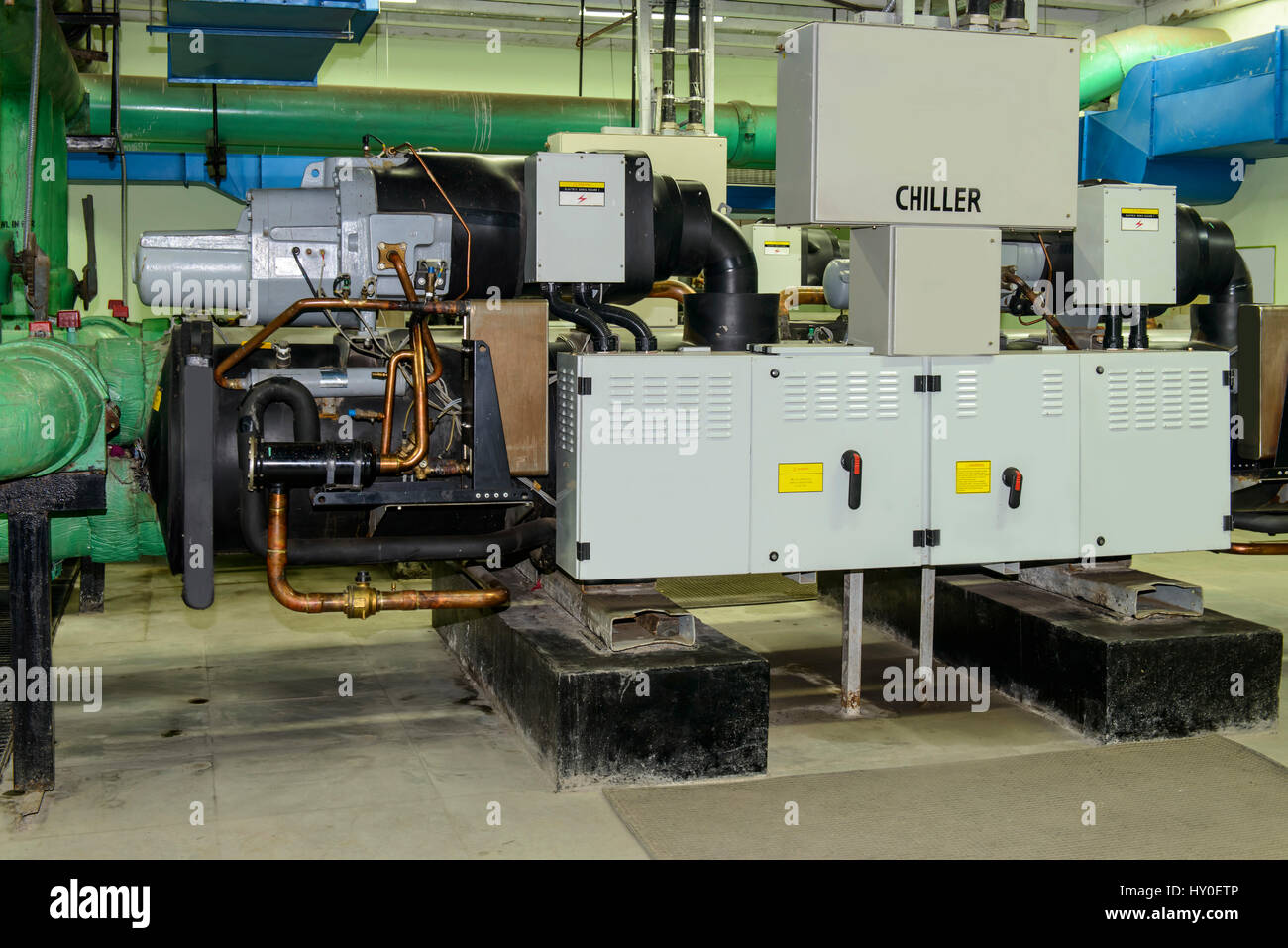 Chiller pump setup, india, asia - Stock Image