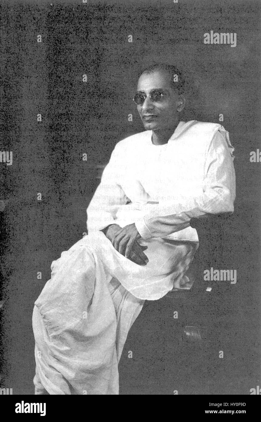 C Rajagopalachari Indian freedom fighter India Asia 1945 - Stock Image