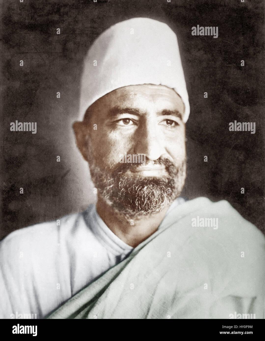 Indian freedom fighter, khan abdul ghaffar khan, india, asia, 1930 - Stock Image