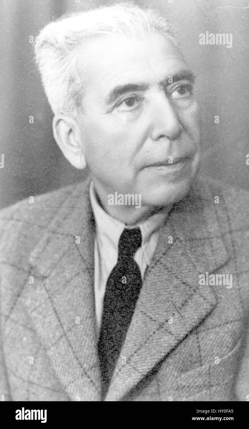 Architect hermann kallenbach, india, asia, 1938 - Stock Image