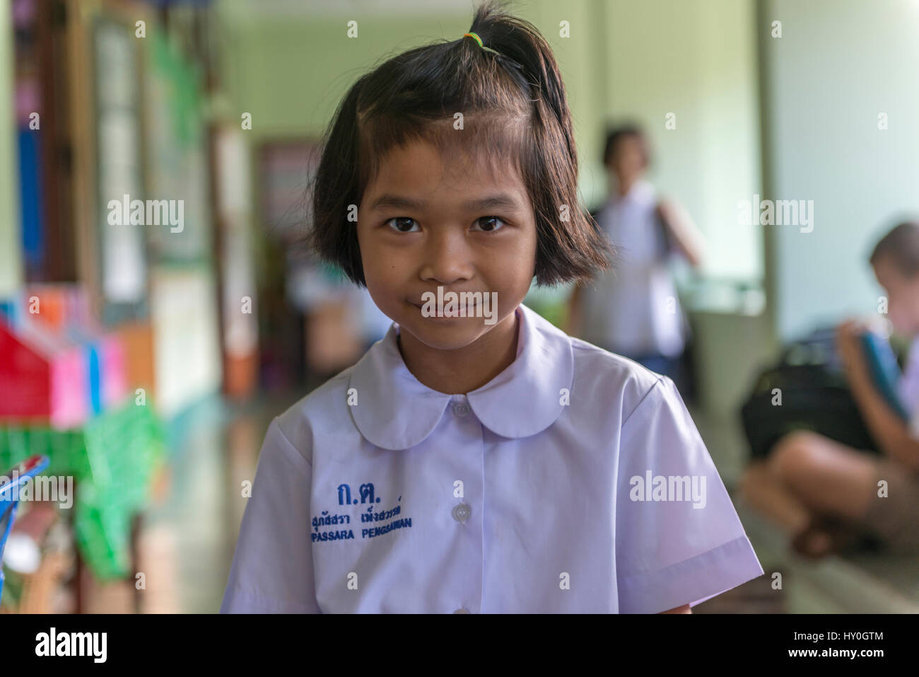 A Cute Girl Student Named Fasai In A Primary School In Phuket Thailand 10