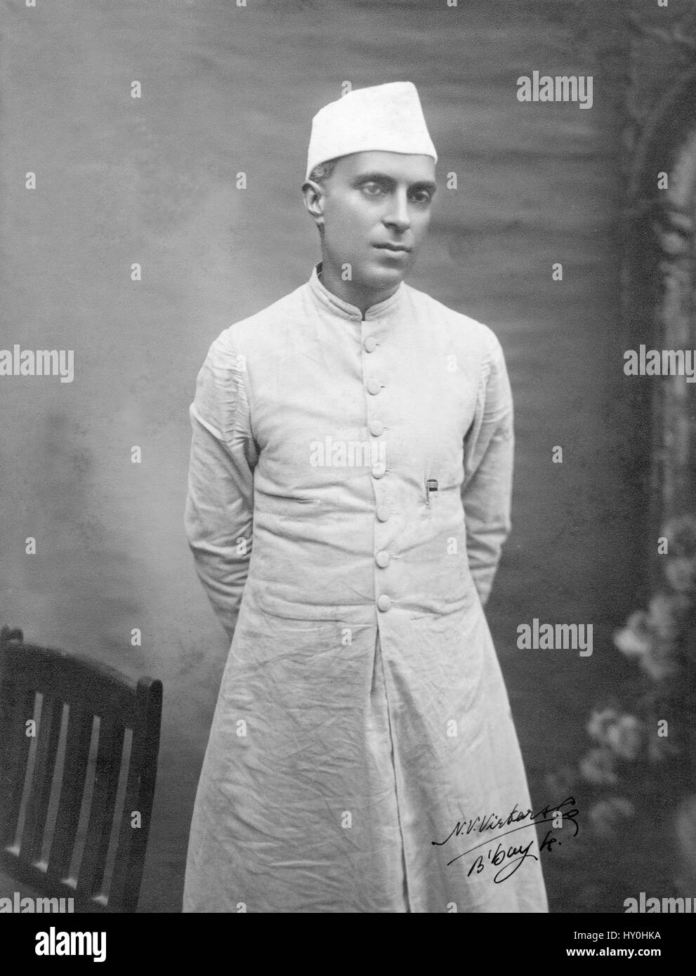 Indian first prime minister, jawaharlal nehru, india, asia, 1927 - Stock Image