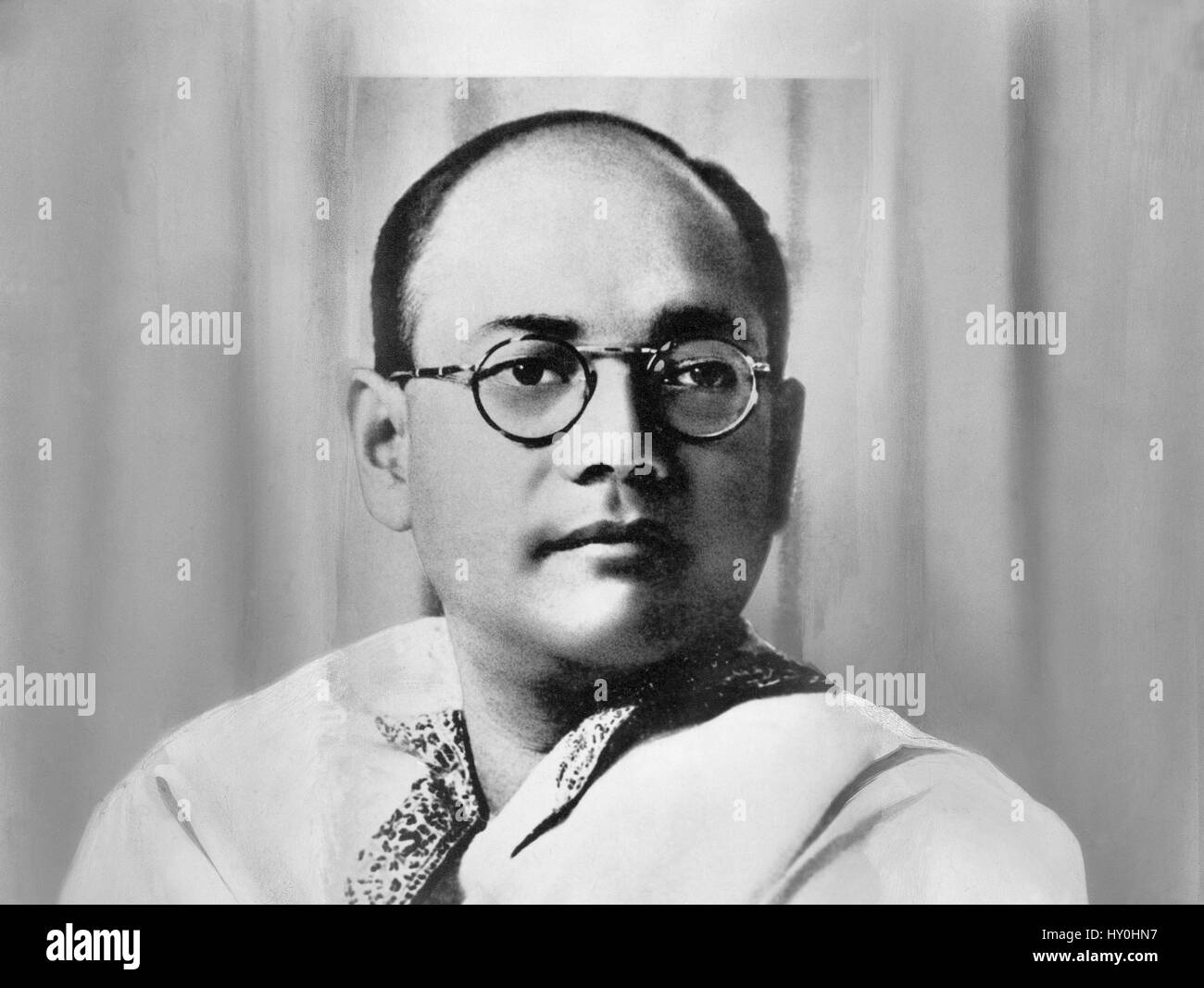 Old vintage 1900s Indian freedom fighters, subhash chandra bose, india, asia - Stock Image