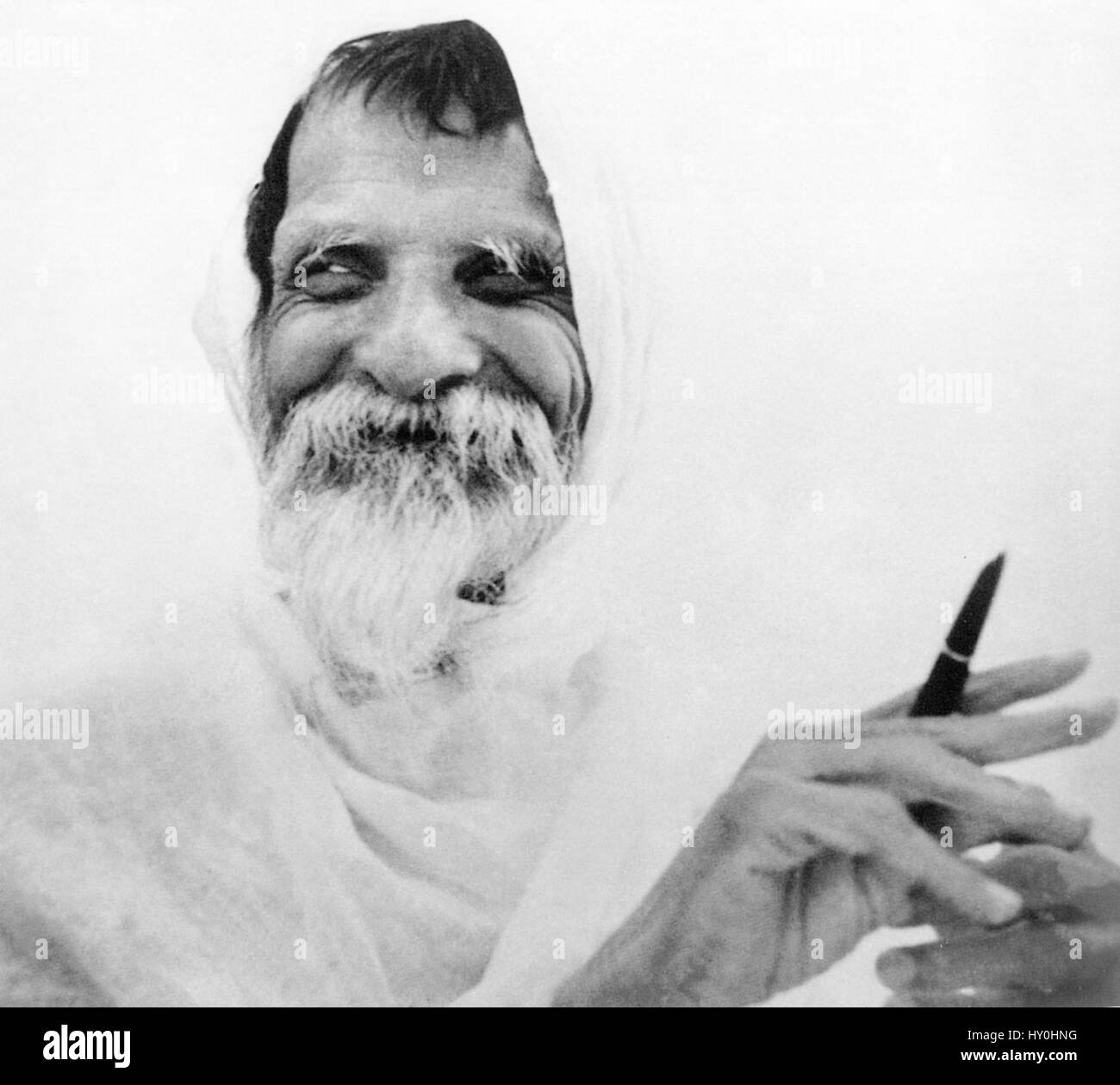 Indian advocate of nonviolence, vinoba bhave, india, asia, 1962 - Stock Image
