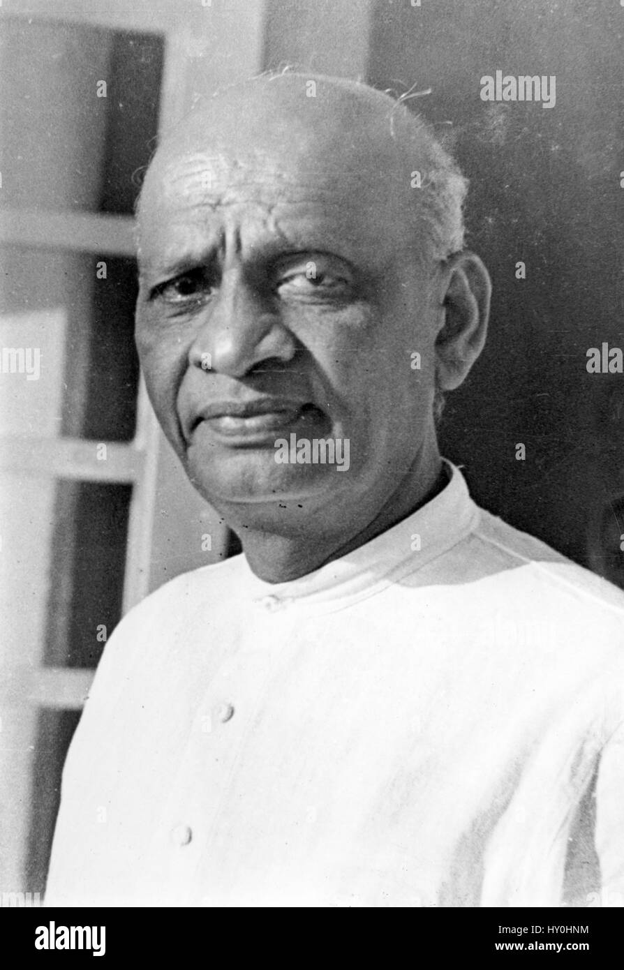 Indian barrister and statesman, sardar vallabhbhai patel, india, asia, 1945 - Stock Image