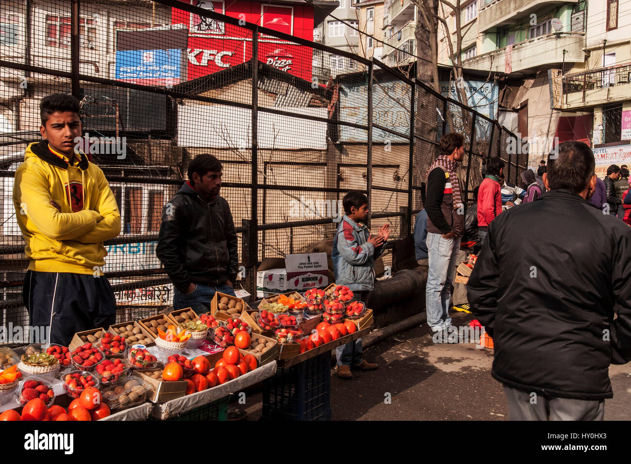 Fruit vendors, shimla, himachal pradesh, india, asia - Stock Image