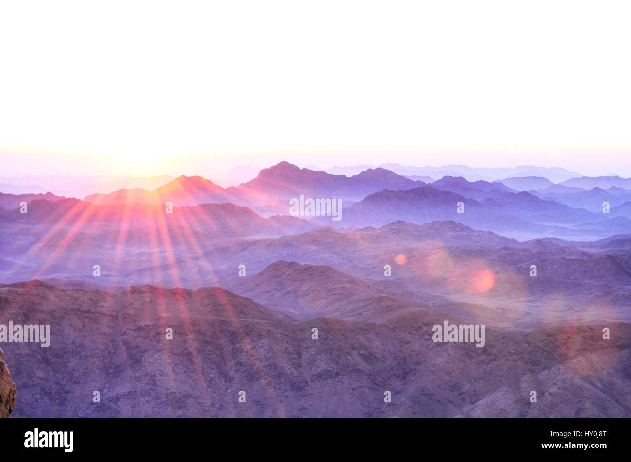 Sunrise at Sinai - Stock Image
