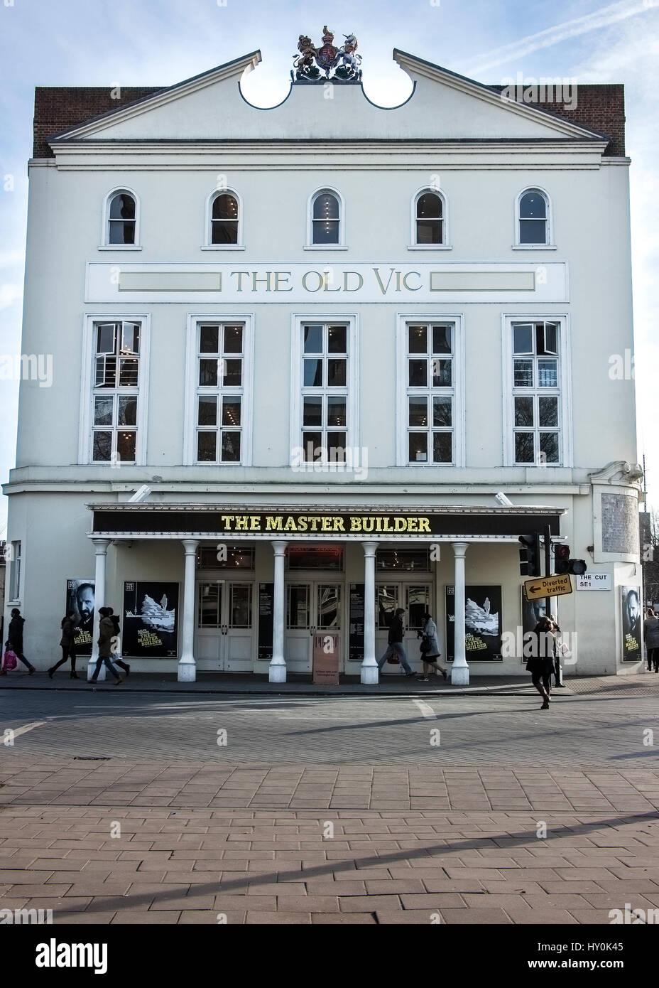 Old Vic theatre London Waterloo - Stock Image