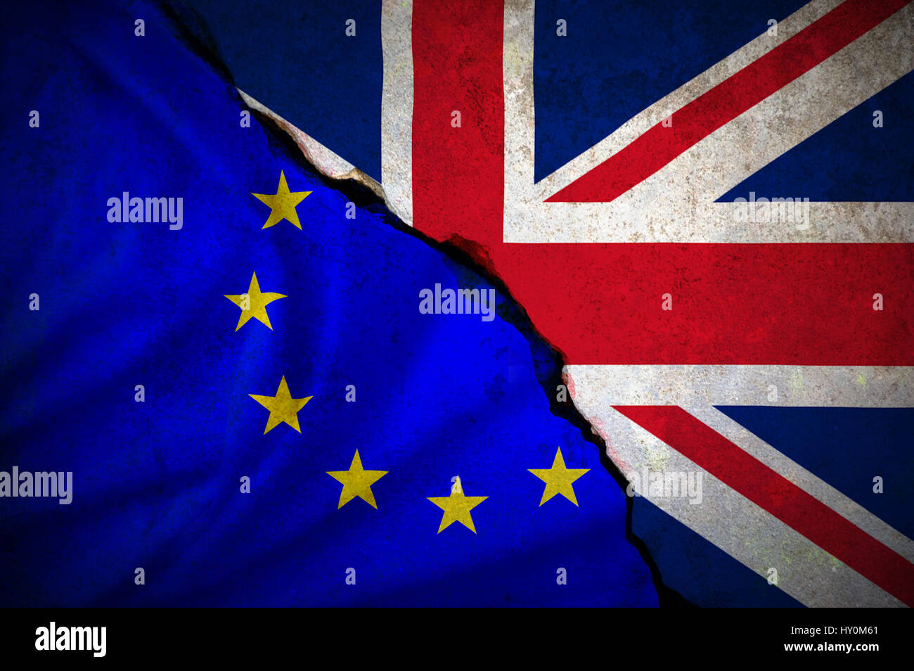 Brexit Flag Stock Photo