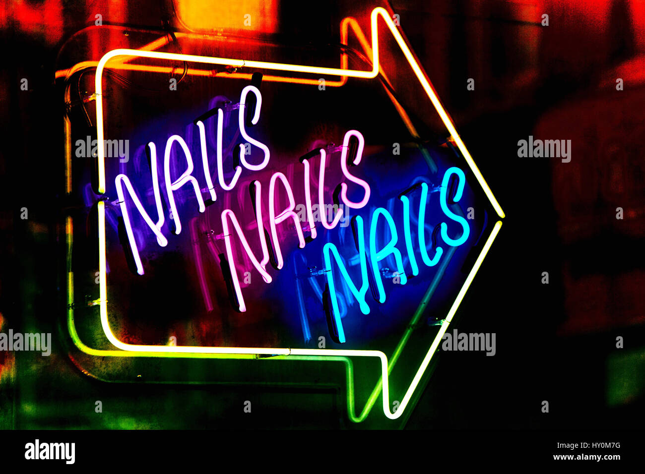 Neon Sign For A Nail Bar In London