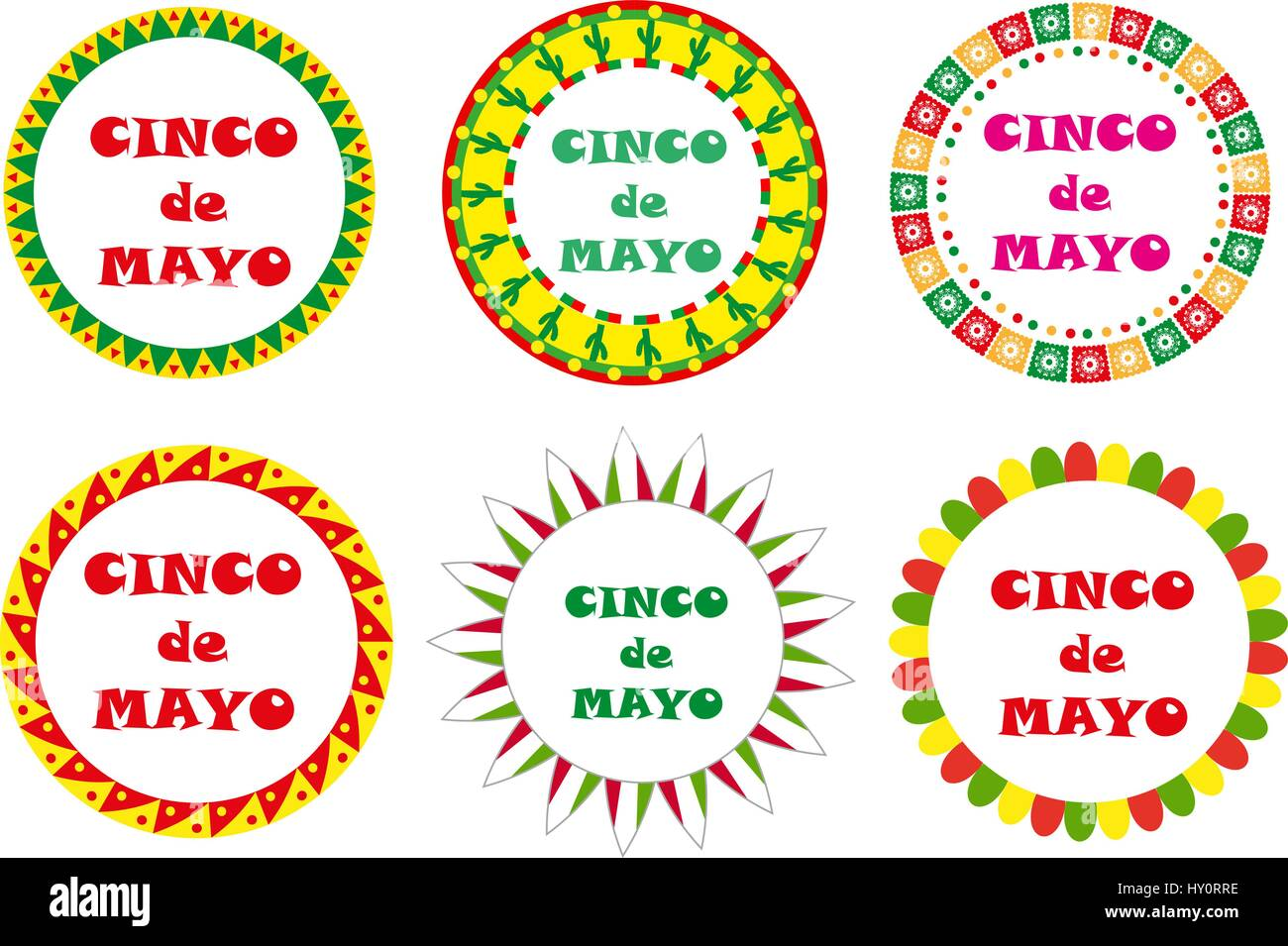 Mexican Border Stock Vector Images - Alamy