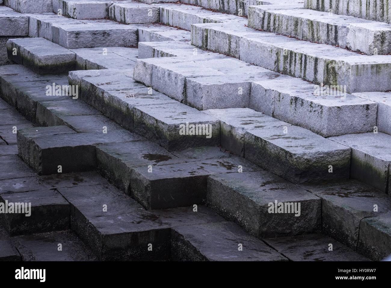 Closeup of a big stones pattern. - Stock Image