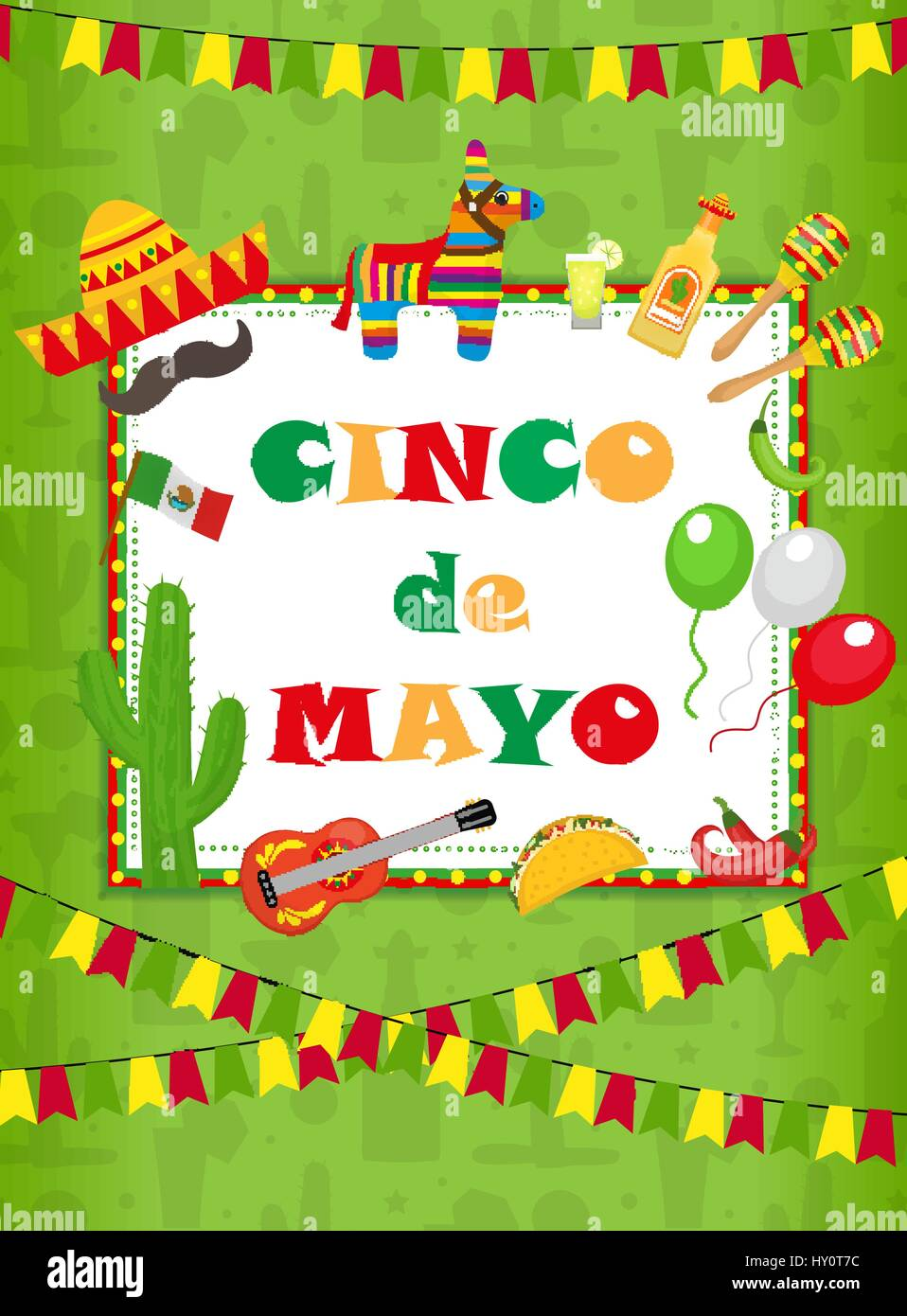 cinco de mayo greeting card template for flyer poster invitation