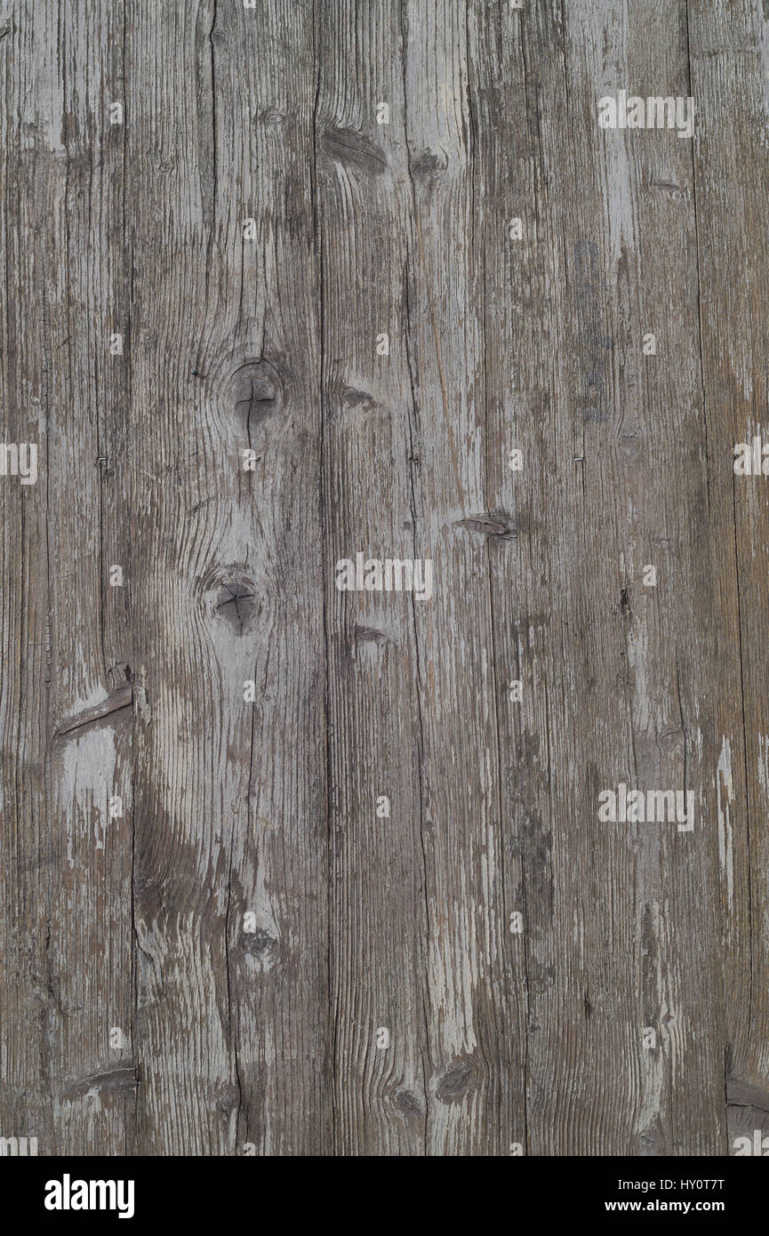 Surface of the old worn white boards - Stock Image