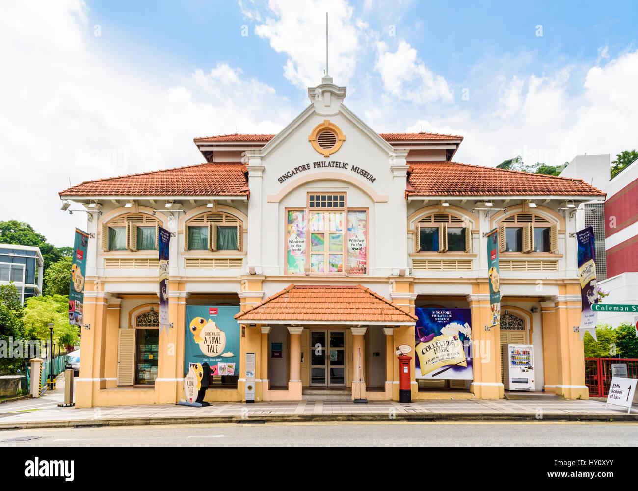 Singapore Philatelic Museum in Singapore - Stock Image