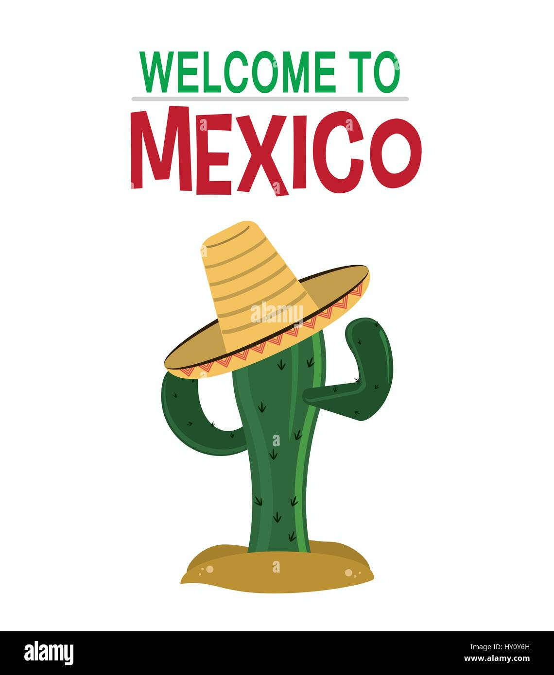welcome to mexico card invitation culture - Stock Image