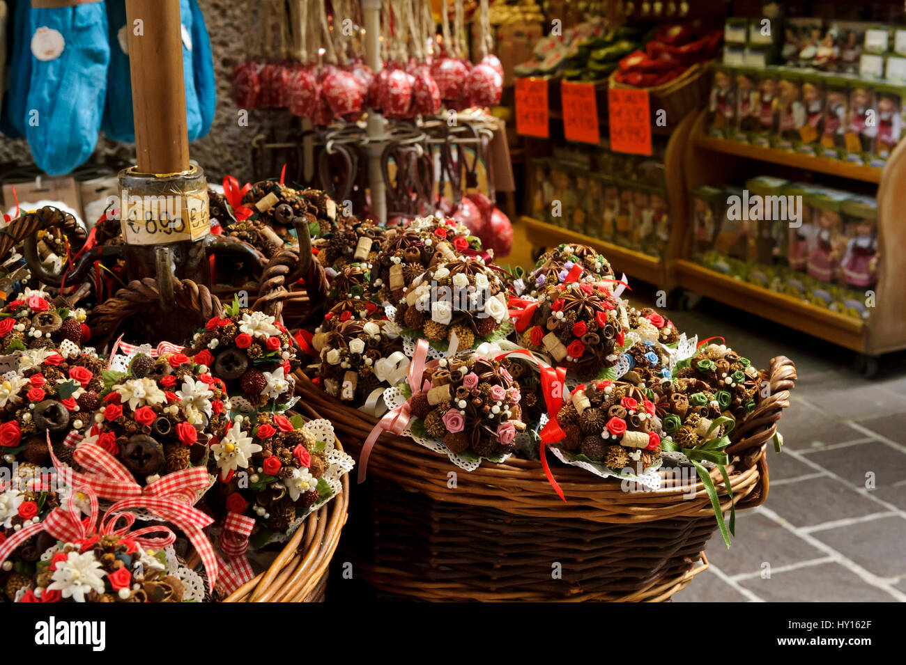 Baskets With Bouquets Stock Photos & Baskets With Bouquets Stock ...