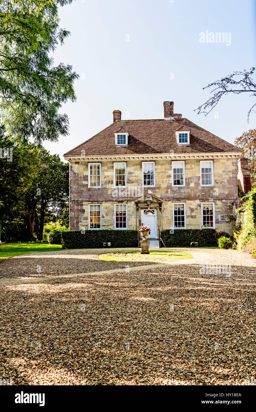 Arundells in Cathedral Close, Salisbury - home of former Prime Minister Sir Edward Heath; früheres Wohnhaus - Stock Image