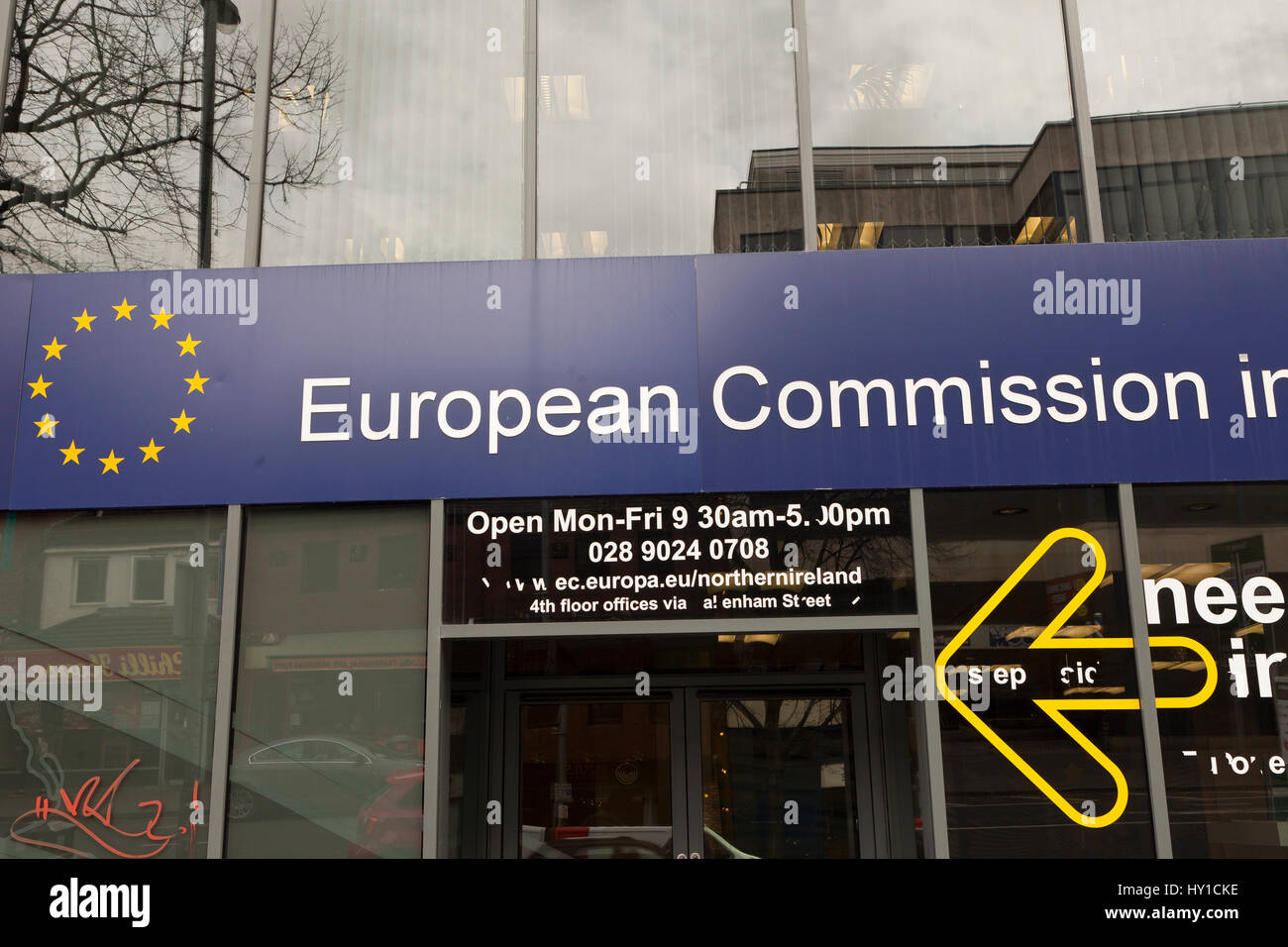 Dublin Road,Belfast 30th March 2017.  European Commision for Northern Ireland Building in Belfast Stock Photo