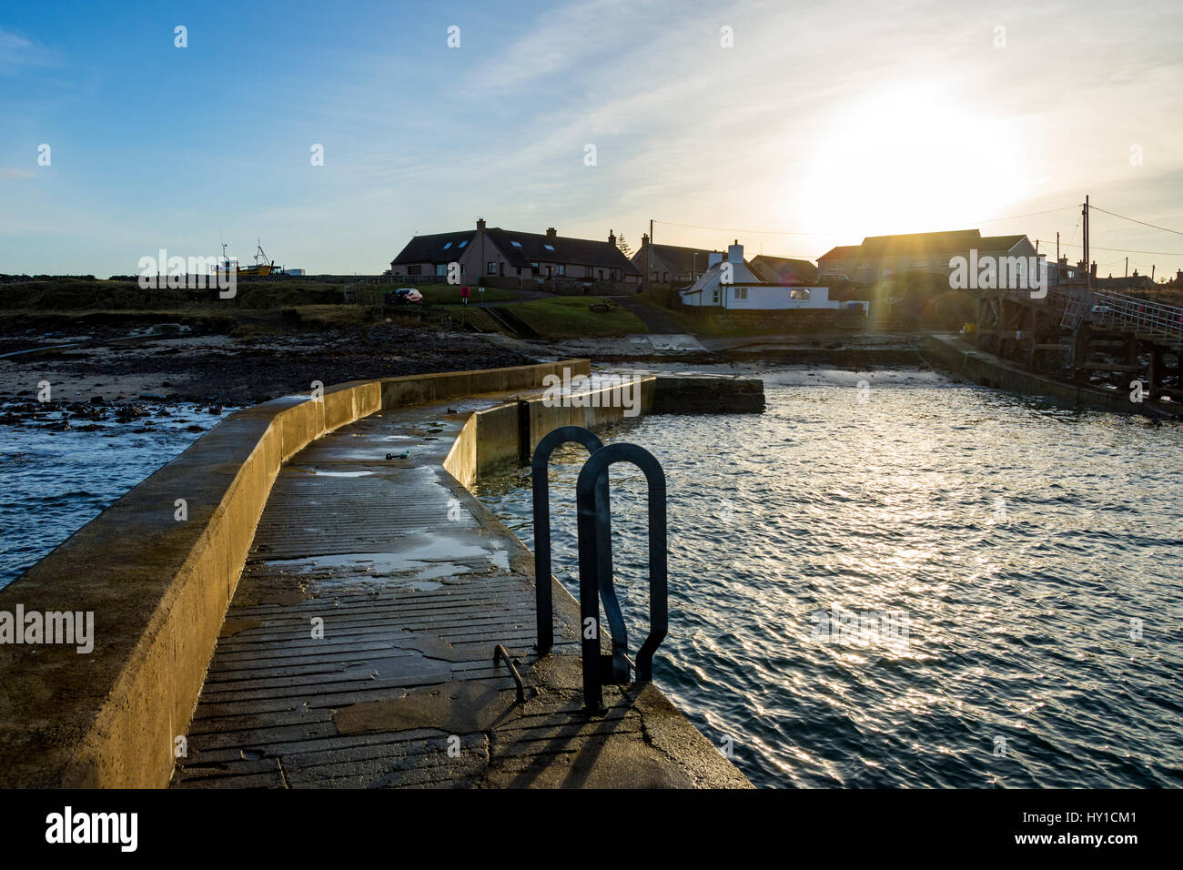 Ackergillshore harbour, near Wick, Caithness, Scotland, UK - Stock Image