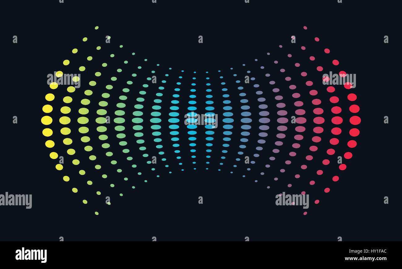 Music Logo concept Sound Wave, Audio Technology, Abstract Shape - Stock Image
