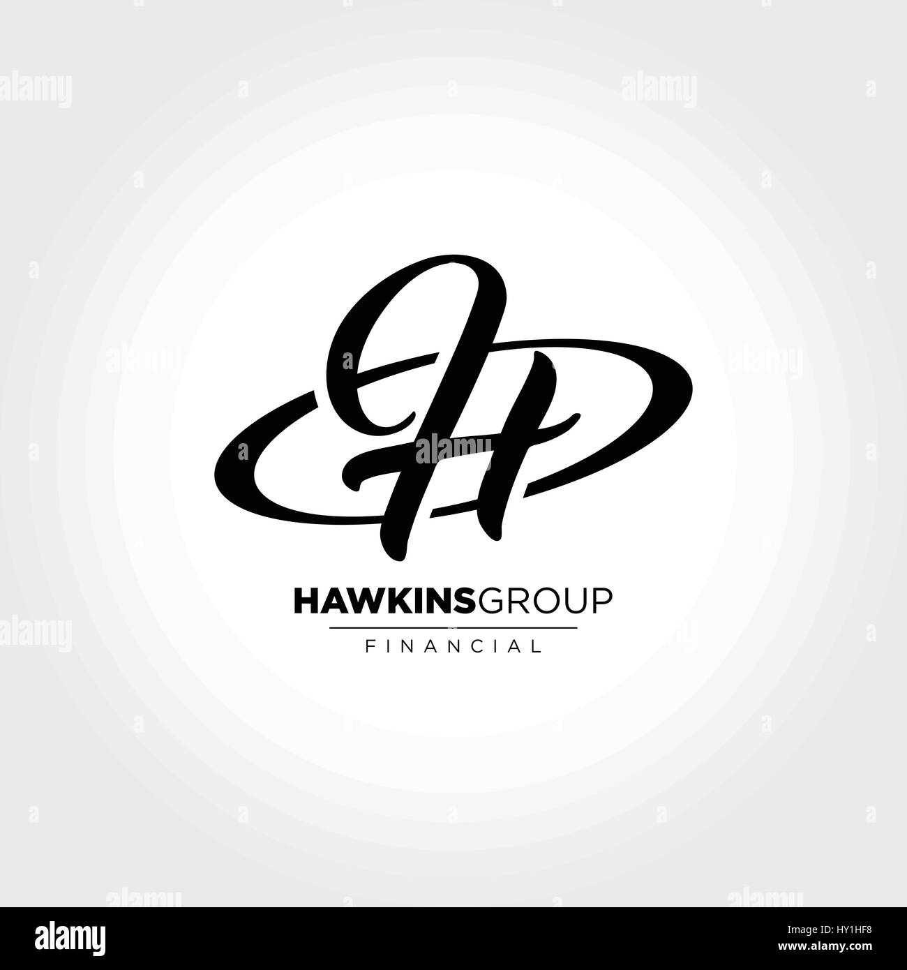 Letter H Initial Symbol Design