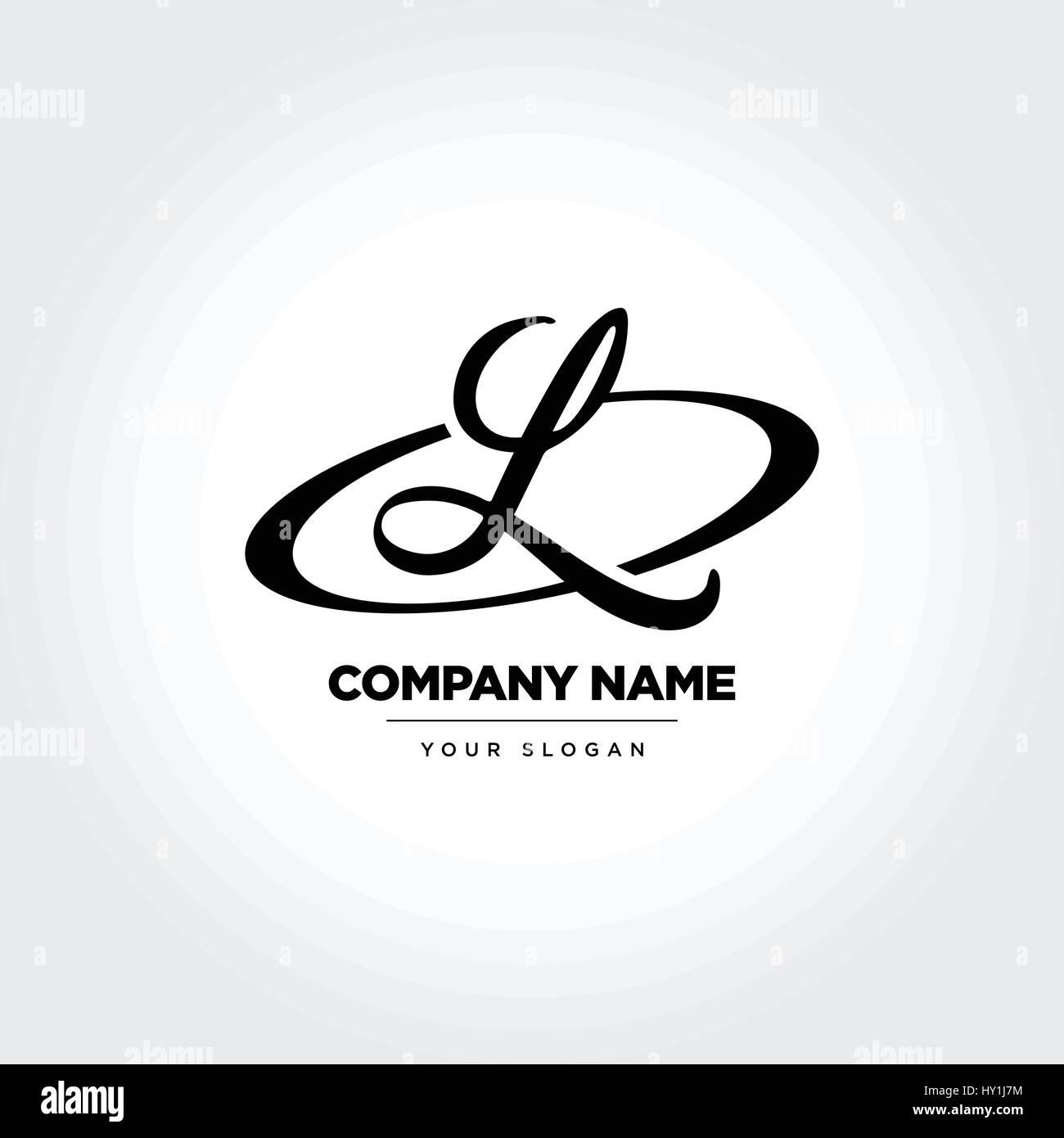 Letter L Initial Symbol Design