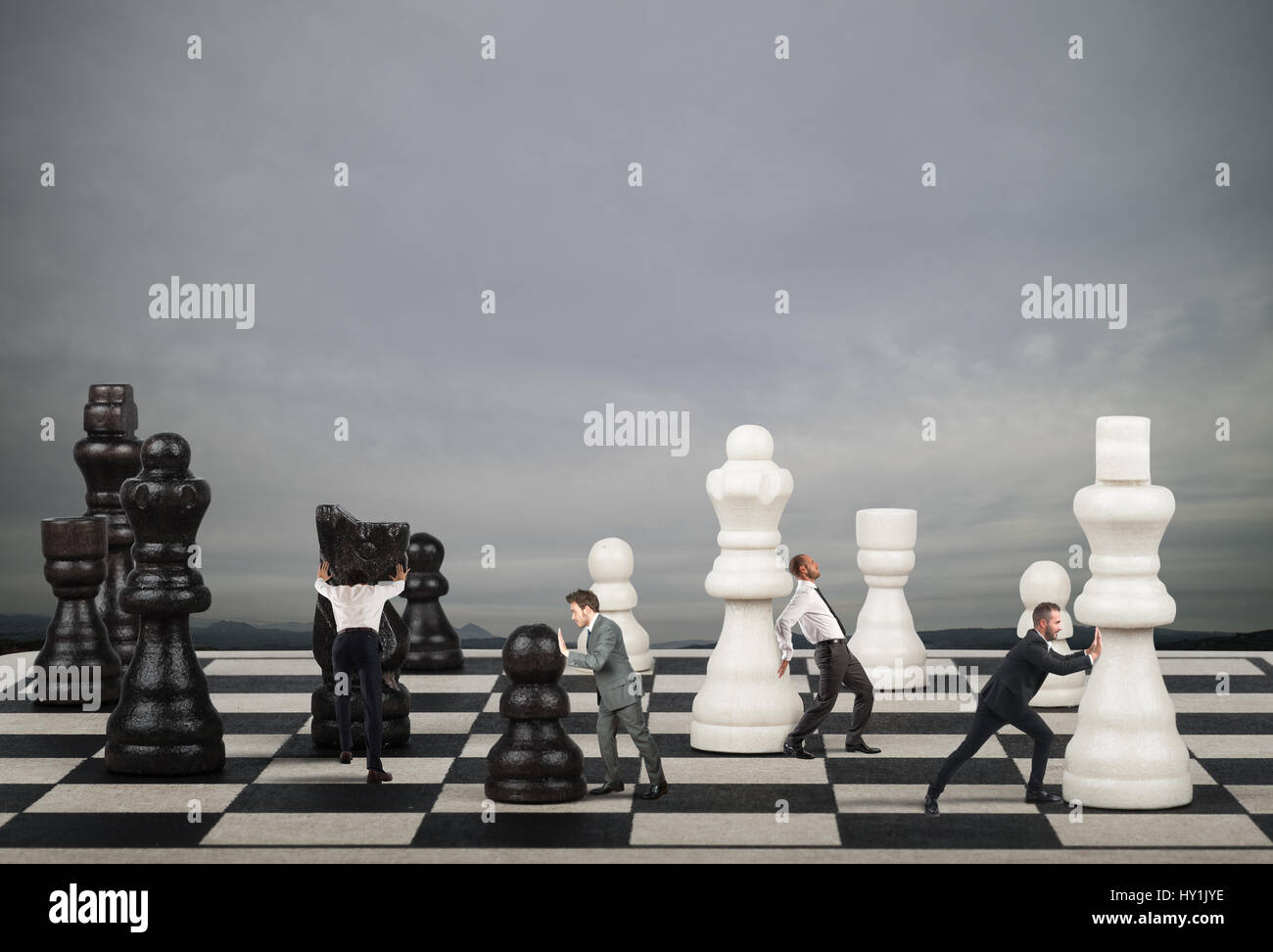 Strategy and tactics in business - Stock Image