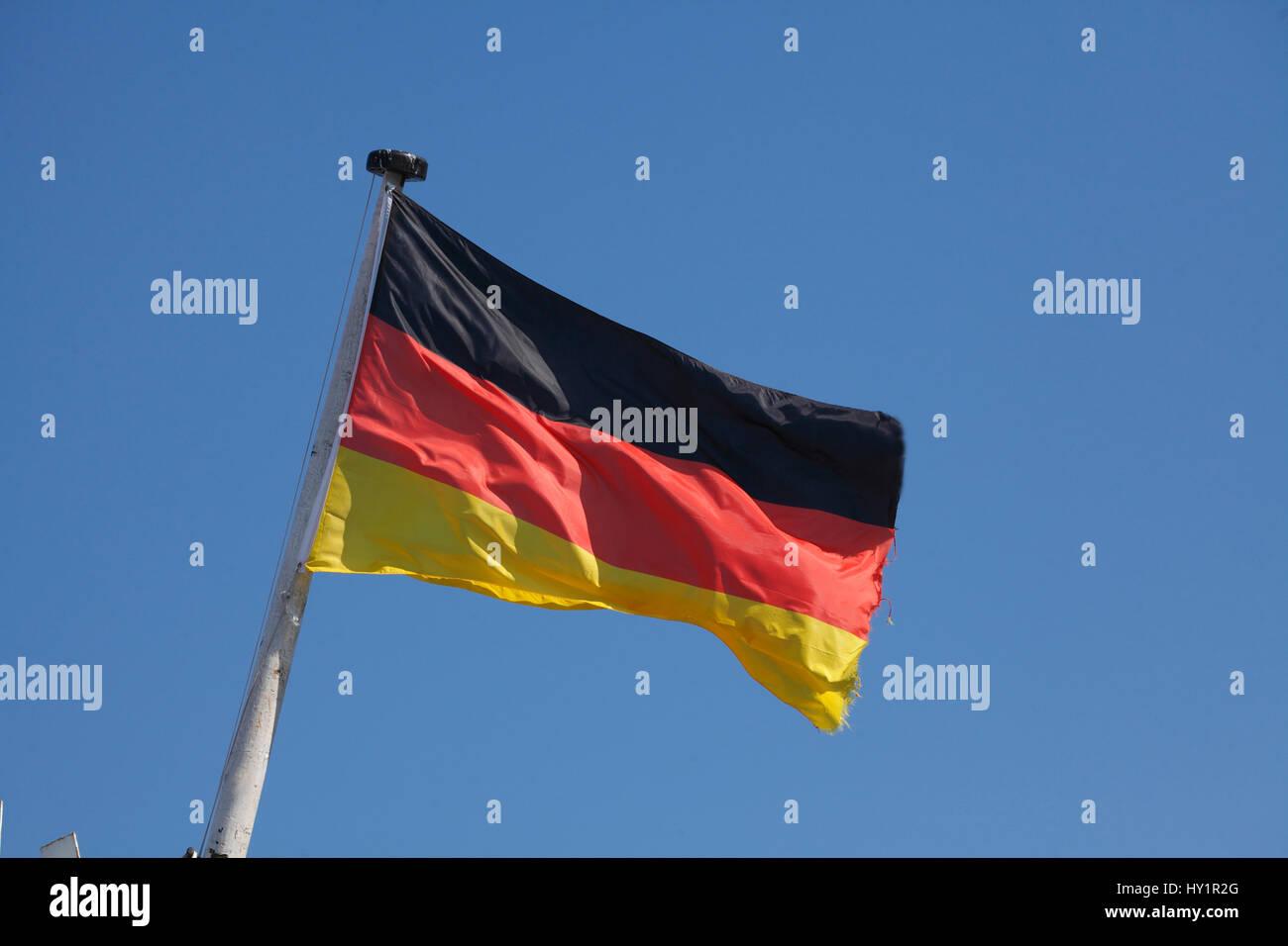 Deutschland Flagge,  Deutschland, Europa Stock Photo