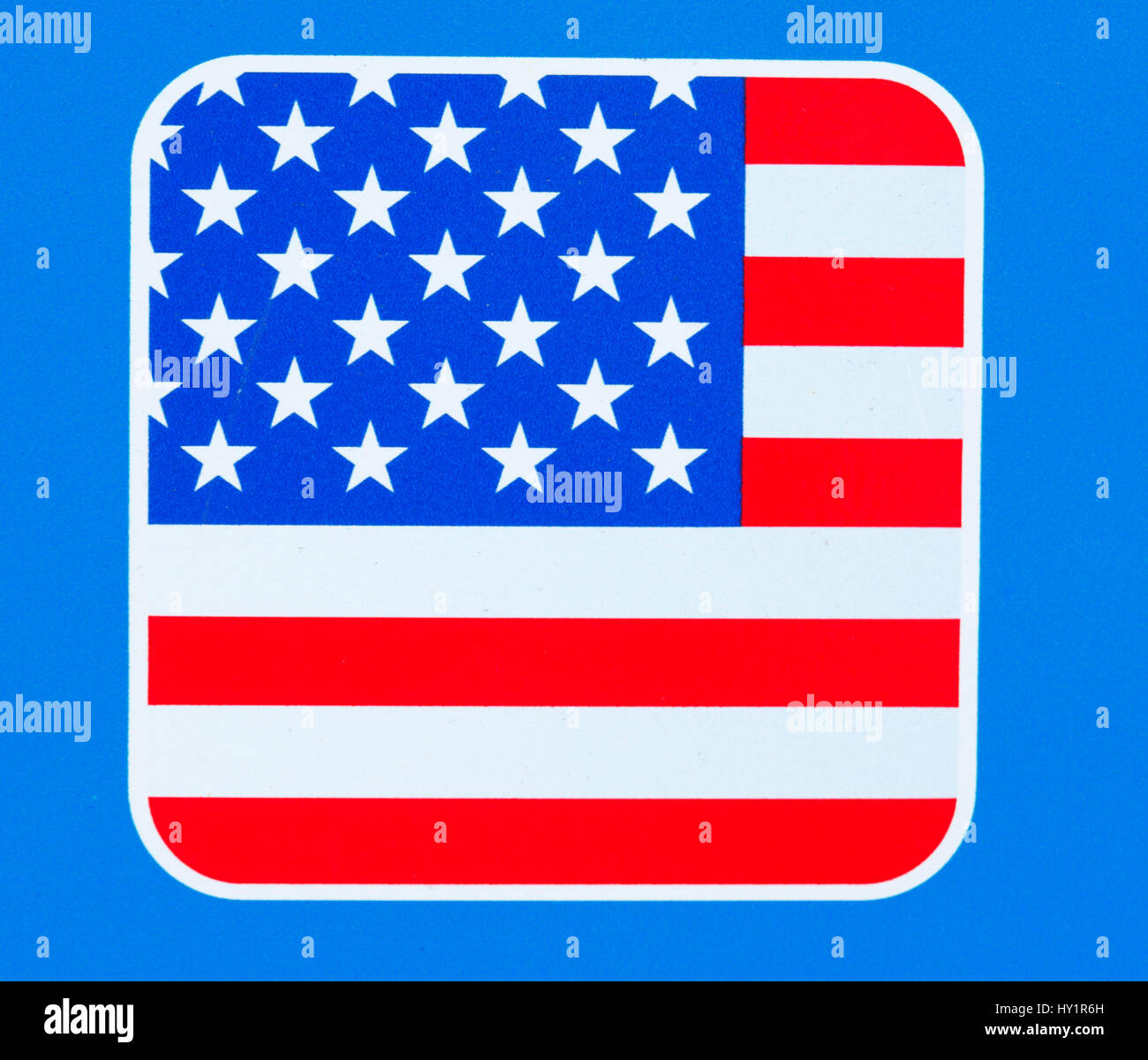 Flag of the United States of America - Stock Image