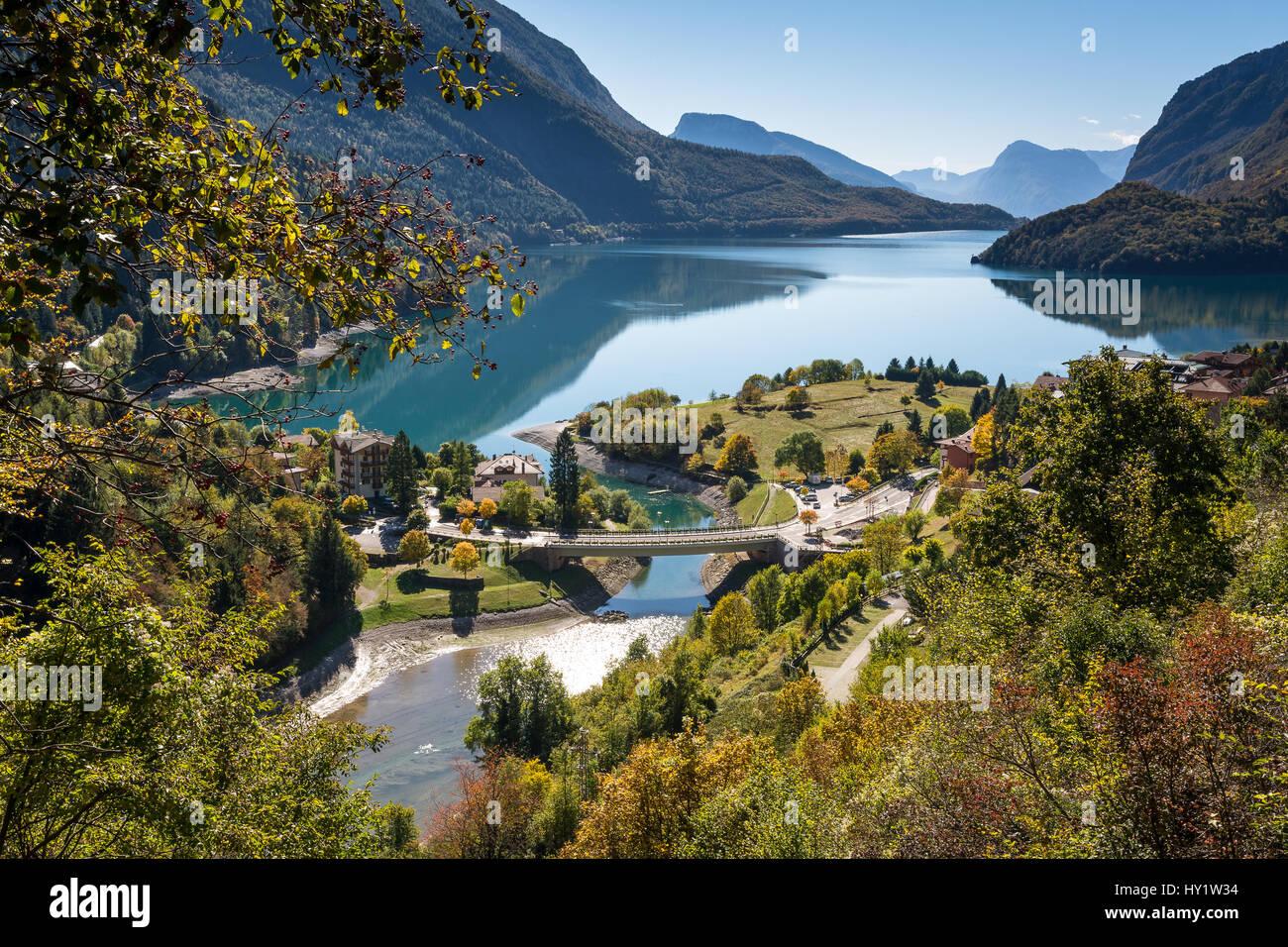 Molveno lake trentino alto adige italy europe stock for Arredamento trentino alto adige