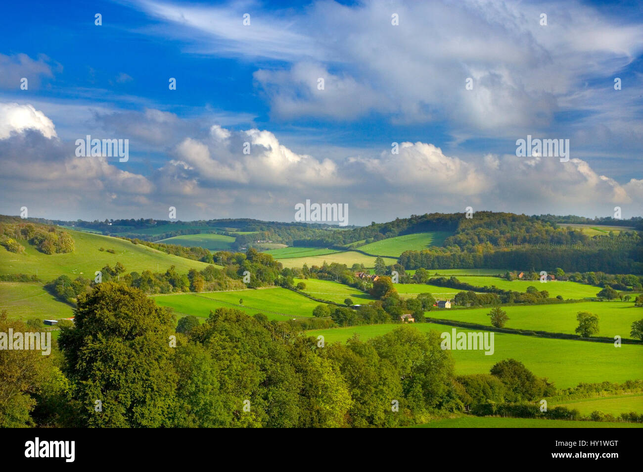 Hambleden Valley, Buckinghamshire, UK, October - Stock Image