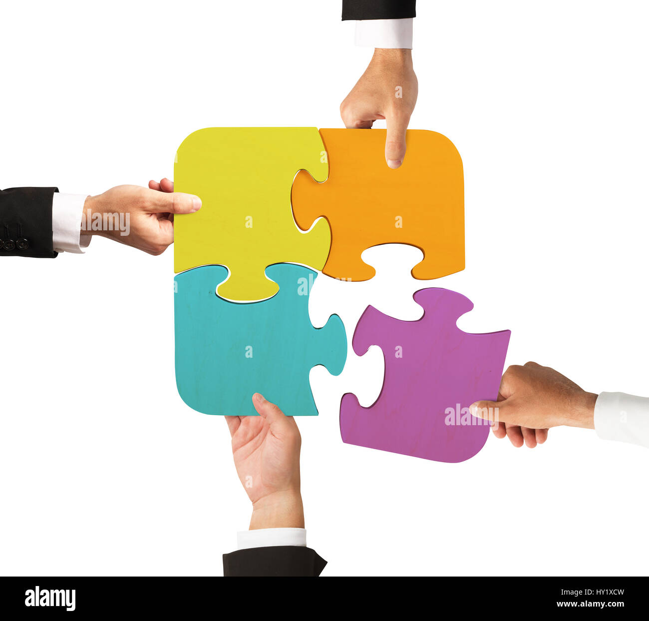 Team work for one goal - Stock Image
