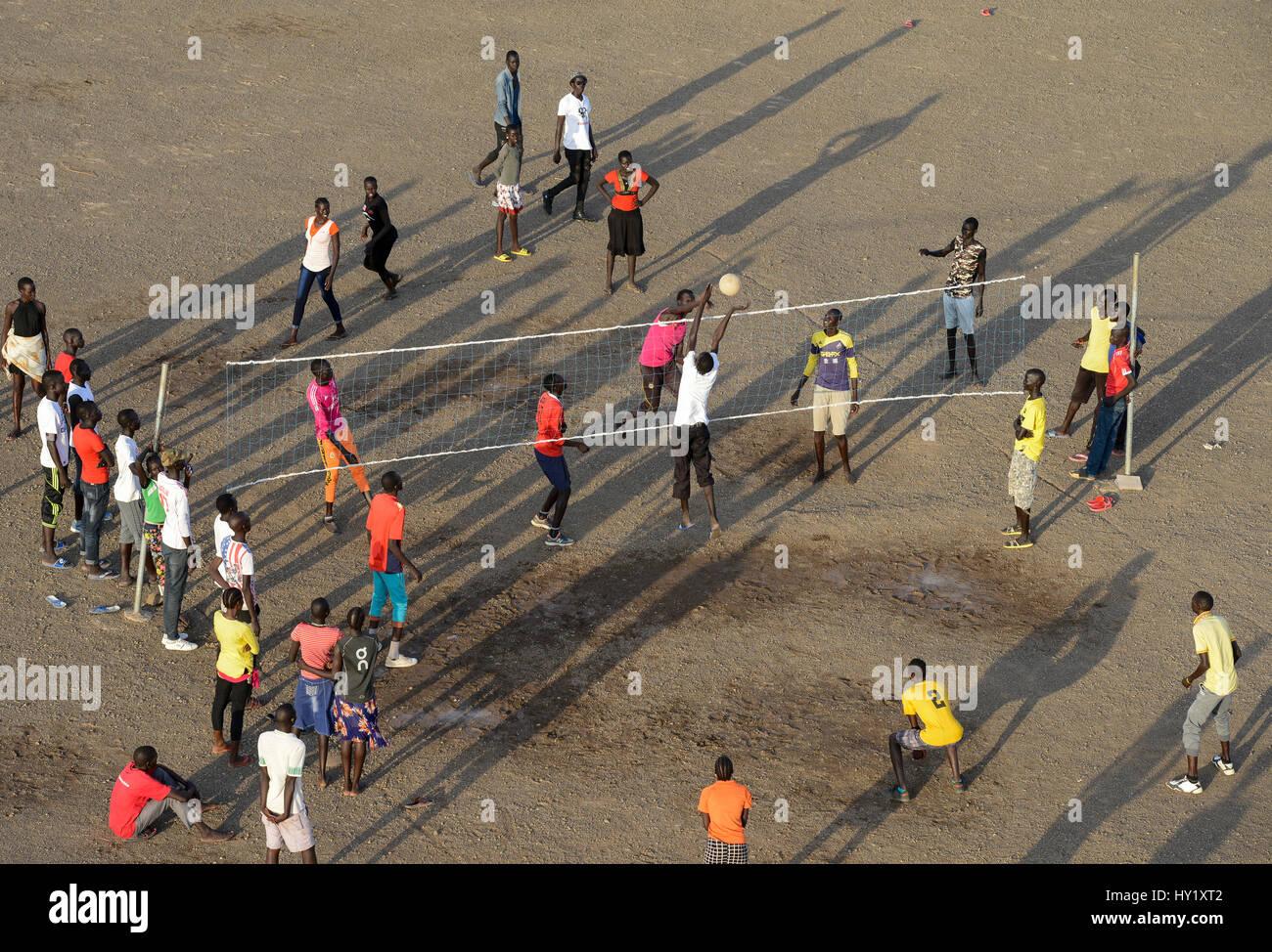 KENYA, Turkana, refugee camp Kakuma for 160.000 refugees, Kakuma IV for mainly south sudanese refugees / KENIA, - Stock Image