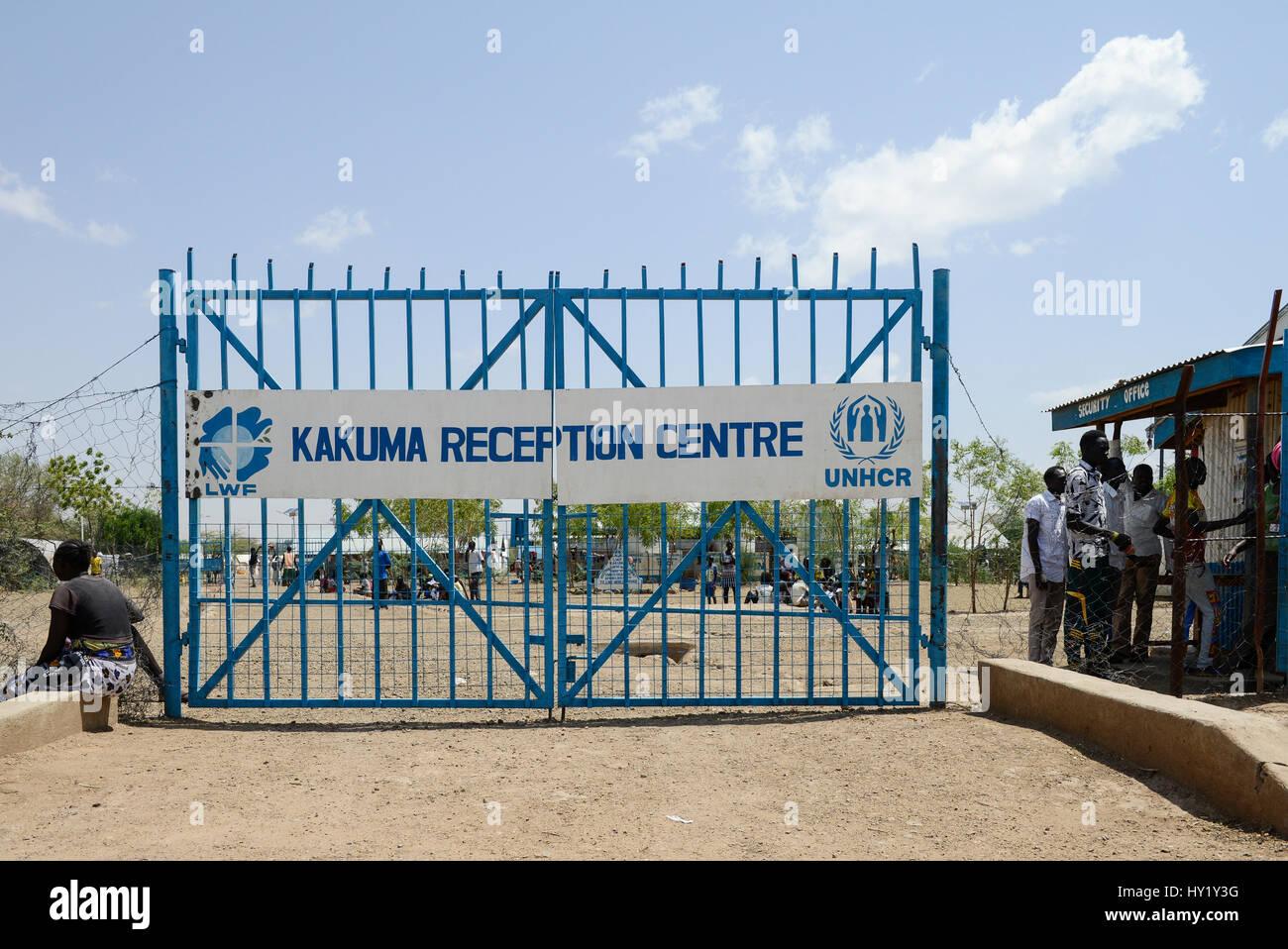 KENYA, Turkana, refugee camp Kakuma for 160.000 refugees, Kakuma III reception centre for arriving south sudanese - Stock Image