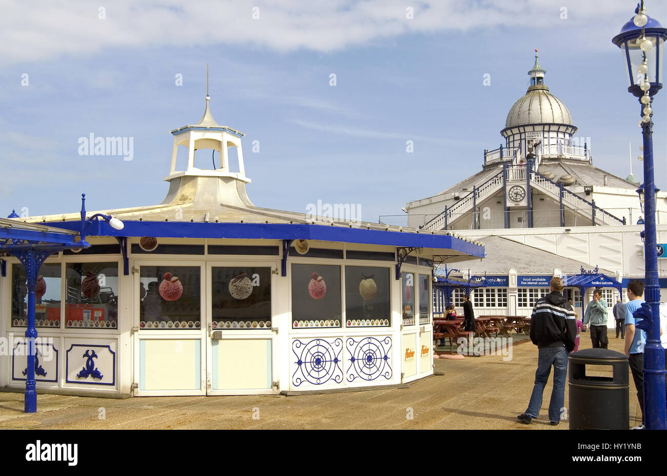 The wellknown Pier at the popular beachside resort of Eastbourne in East Sussex, South England. Stock Photo