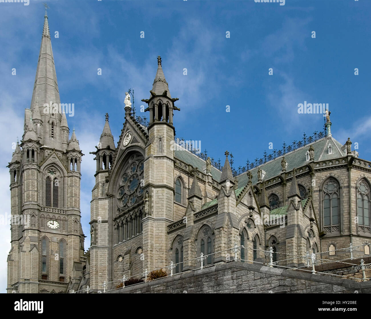 This stock photo shows the St.Colemans Cathedral of Cobh an small Southern Irish coastal city near Cork. The image Stock Photo