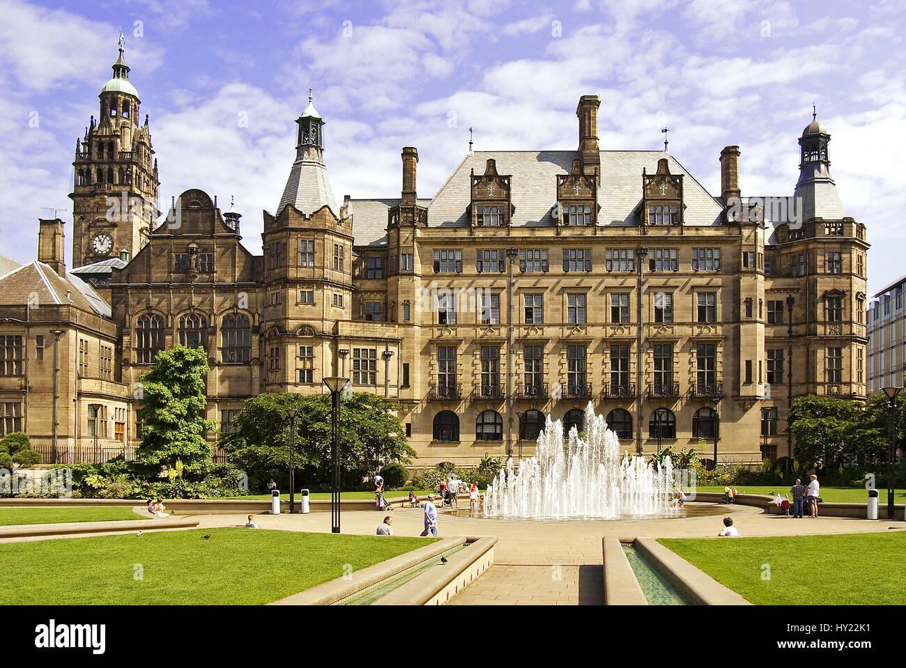 Das Rathaus, die Sheffield Town Hall in Mittelengland. - Stock Image