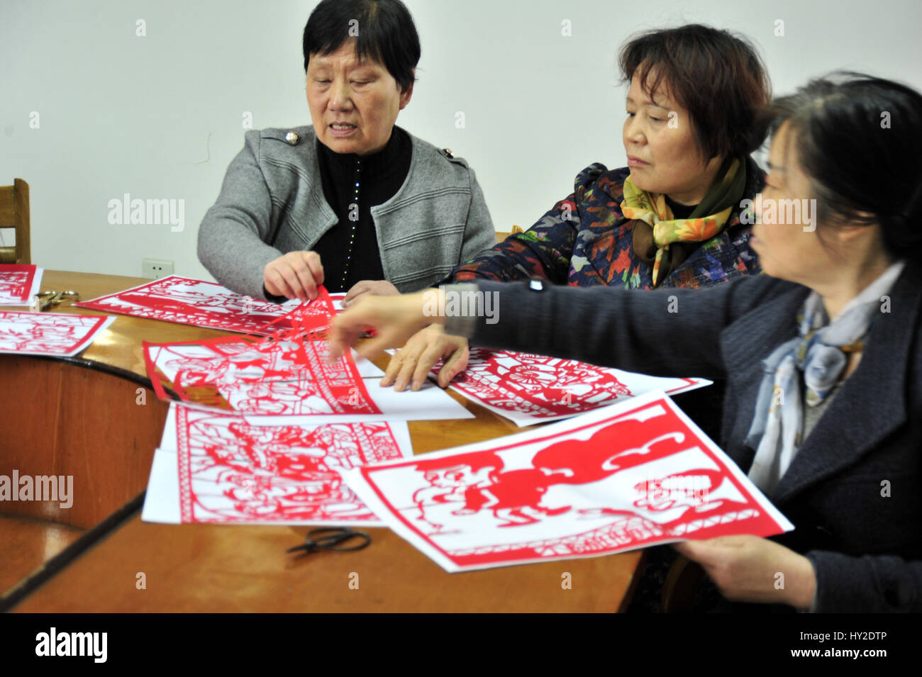 Hangzh, Hangzh, China. 31st Mar, 2017. Hangzhou, CHINA-March 31 2017: (EDITORIAL USE ONLY. CHINA OUT).Elder officials - Stock Image