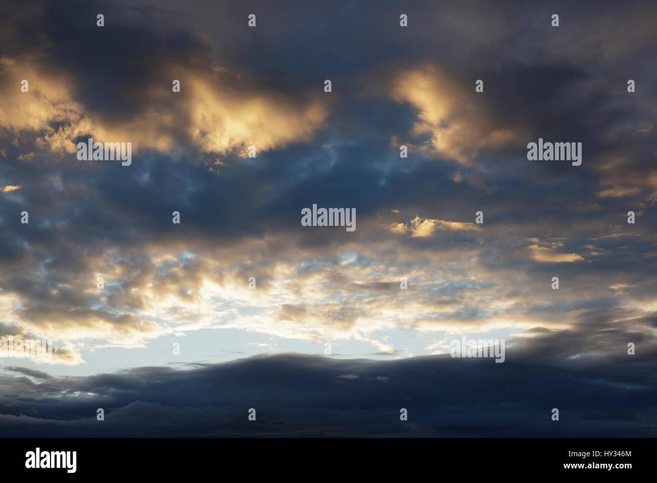 Sweden, Dalarna, Solleron, dramatic cloudscape - Stock Image