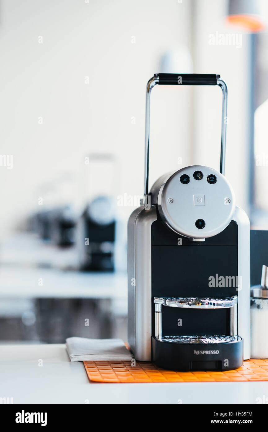 nespresso coffee machine in a restaurant stock photo 137138504 alamy