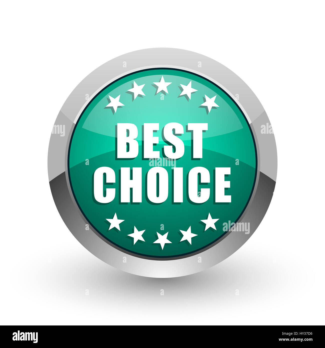 Best choice silver metallic chrome web design green round internet icon  with shadow on white background. 64d64d1bb