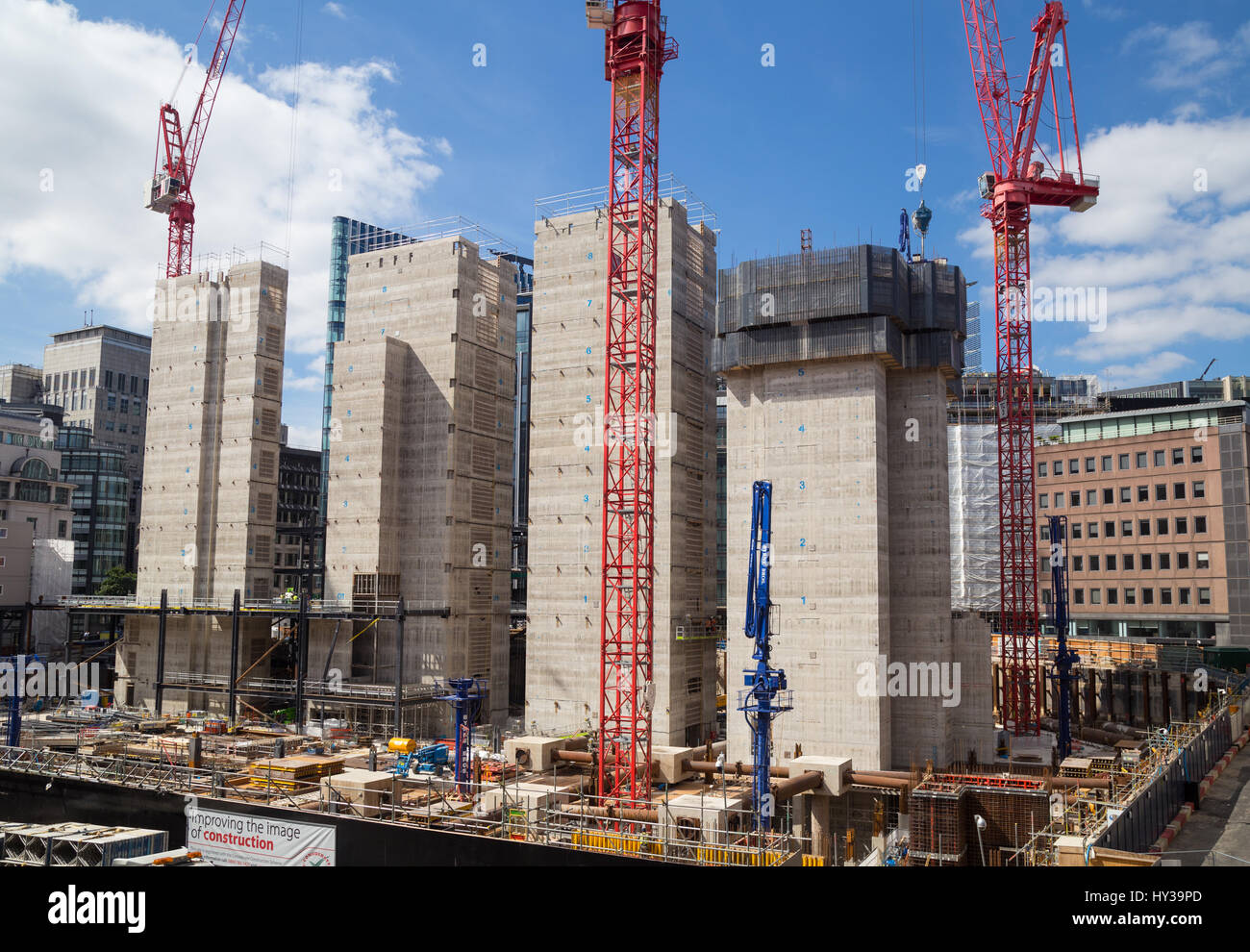 Construction site of investment bank Goldman Sachs new European