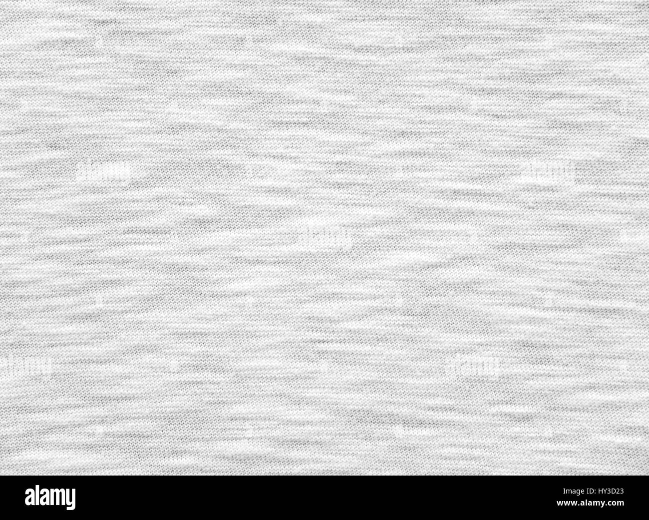White breezy t-shirt cotton knitted fabric texture - Stock Image