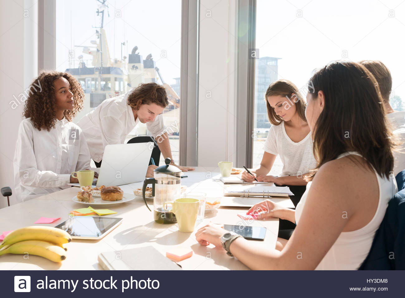 Sweden, Business meeting in office - Stock Image
