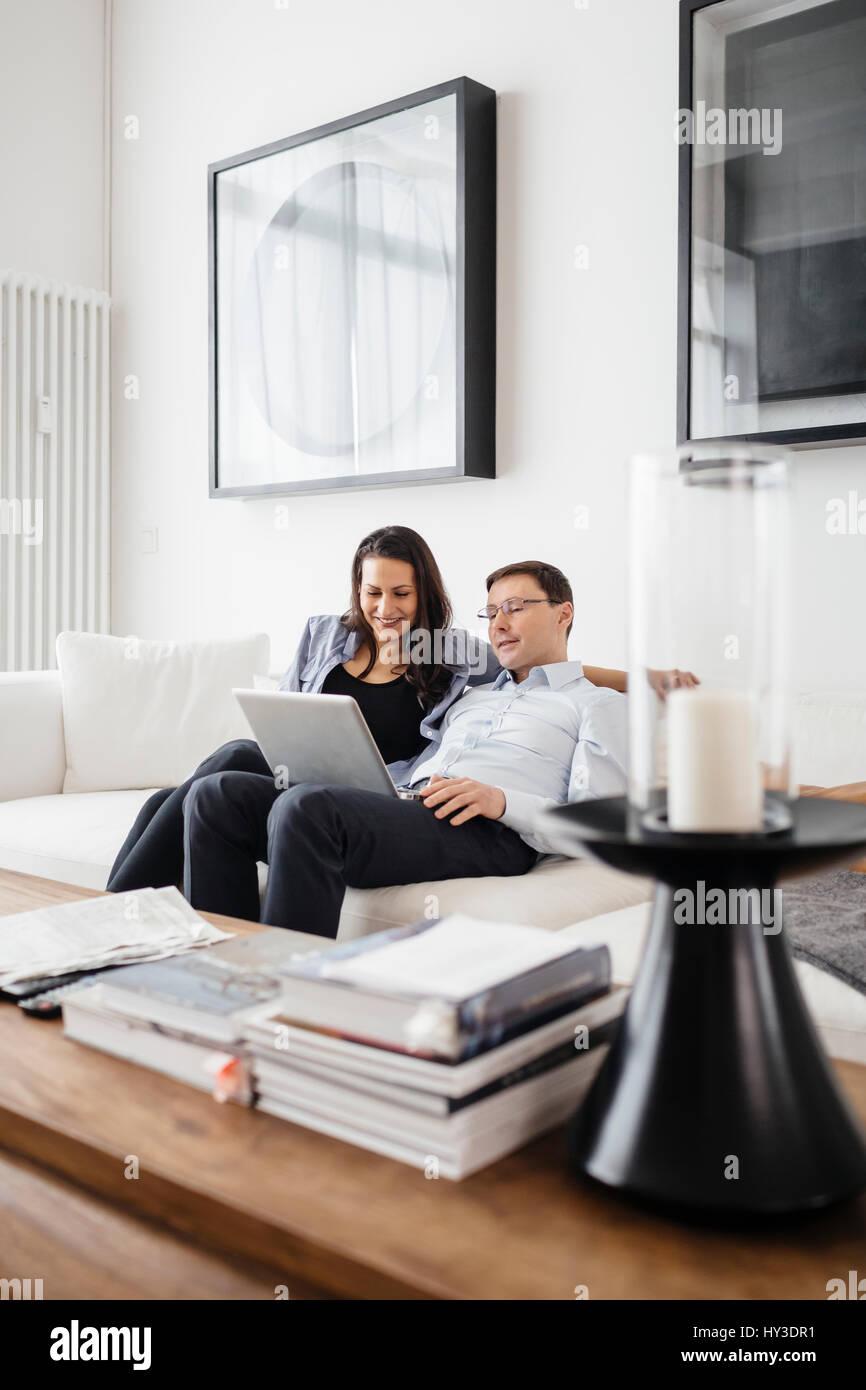 Germany, People enjoying time together - Stock Image