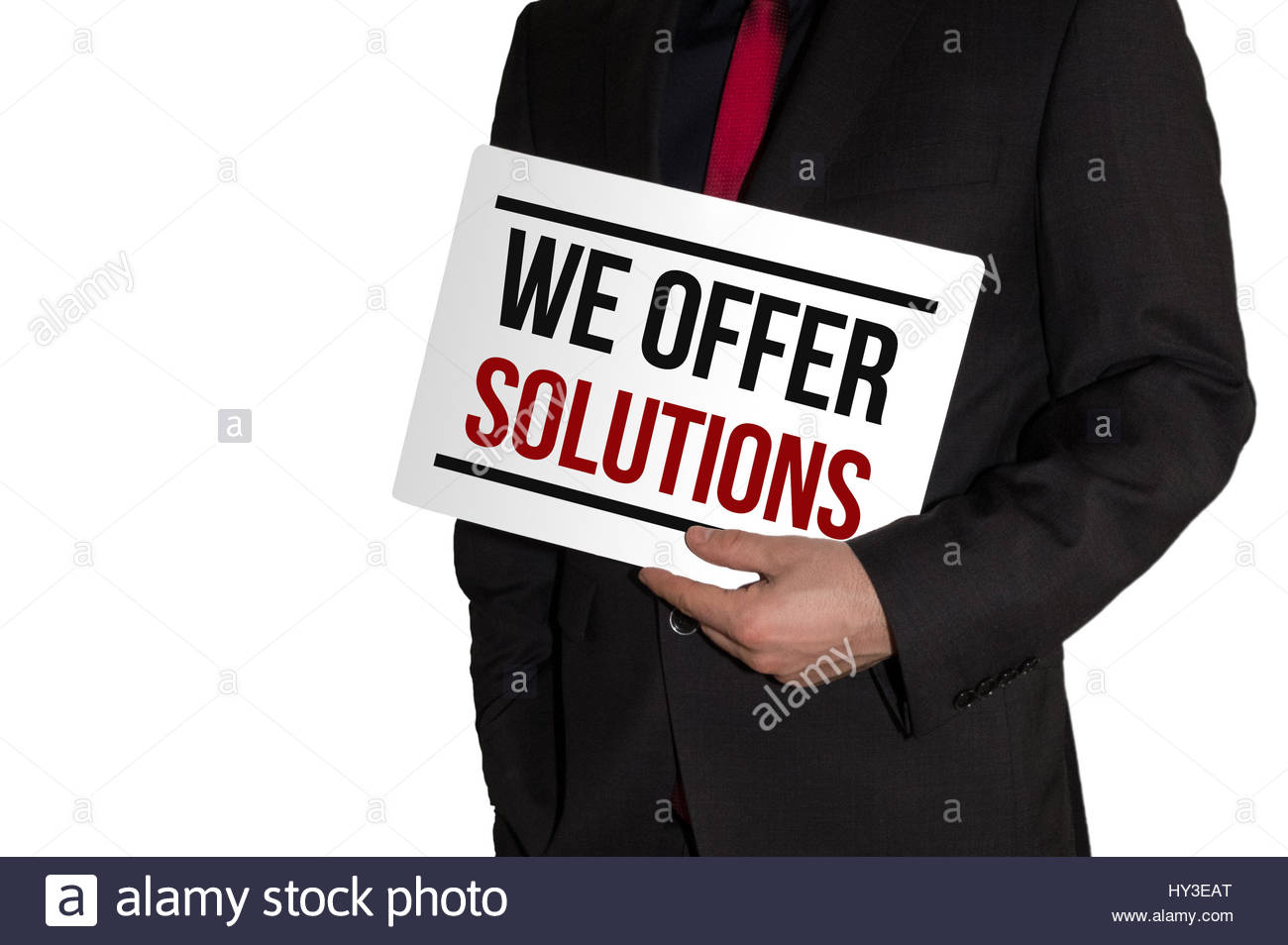 We offer solutions - business concept - Stock Image