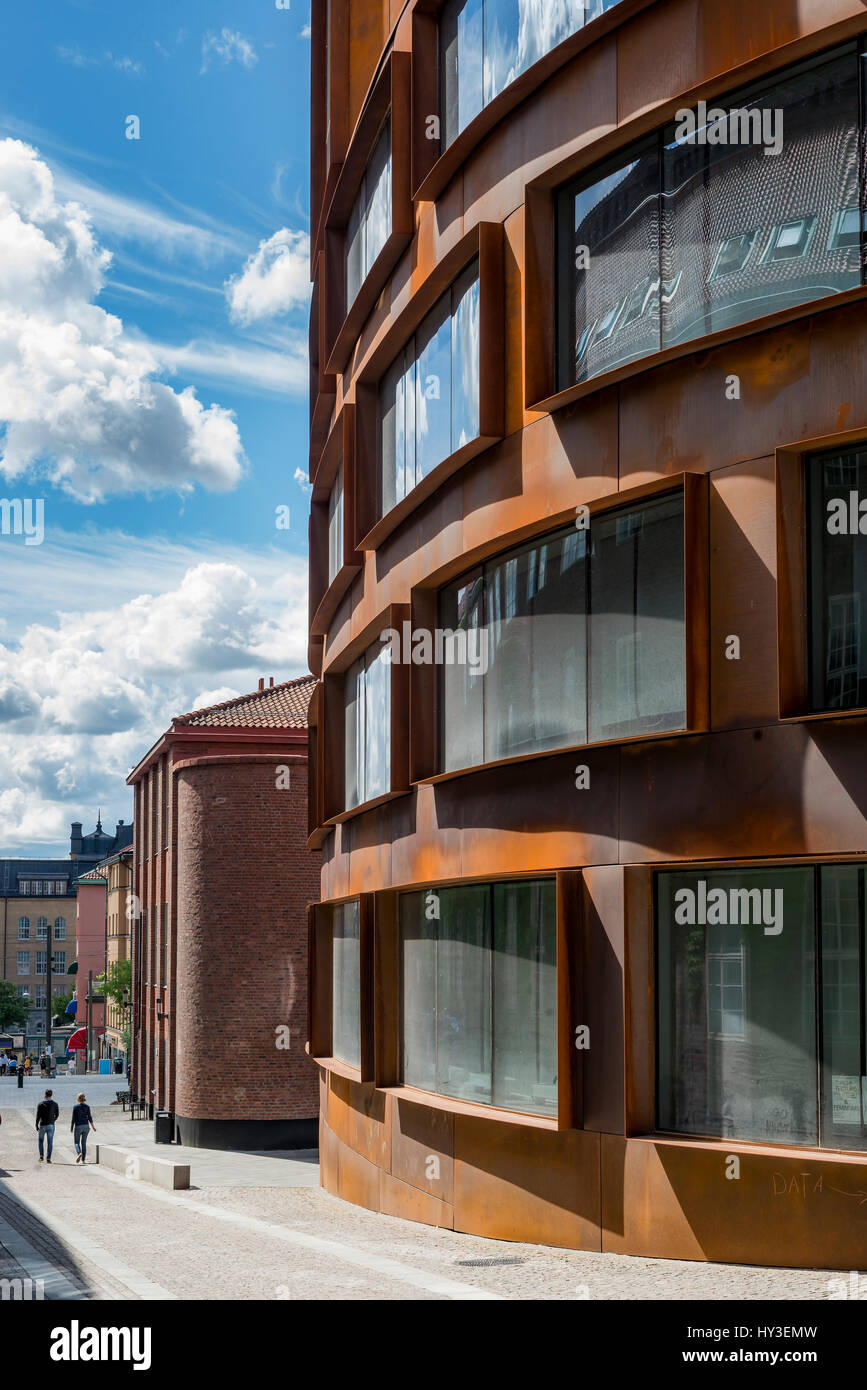 Sweden, Stockholm, Ostermalm, Rounded building of Kungliga Tekniska hogskolan (Royal Institute of Technology) - Stock Image
