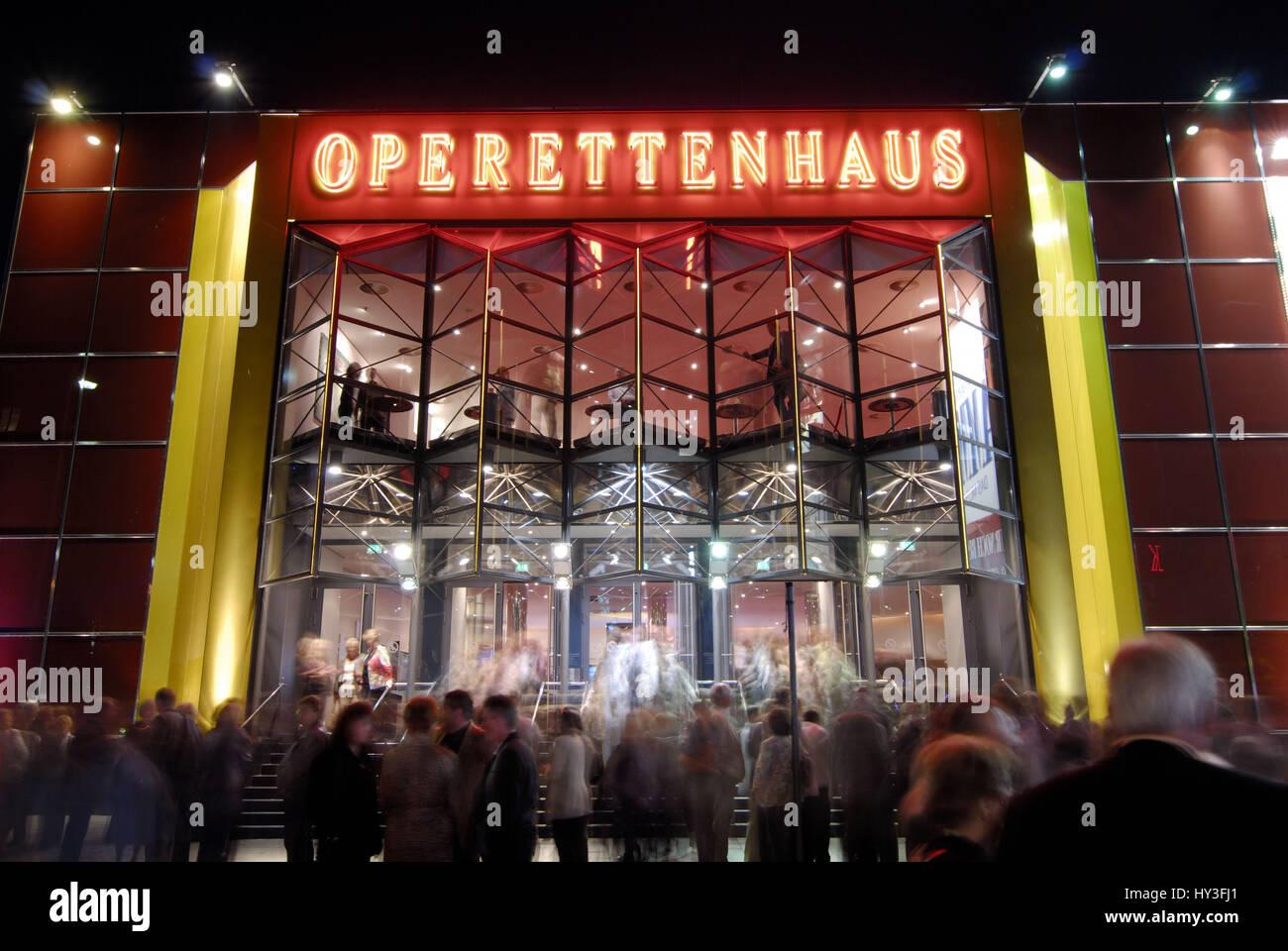 Germany, Hamburg, Saint Pauli, hamburger, town, Gro? town, evening, in the evening, building, lights up, illuminated, lighting, meadow? enansicht, ope Stock Photo
